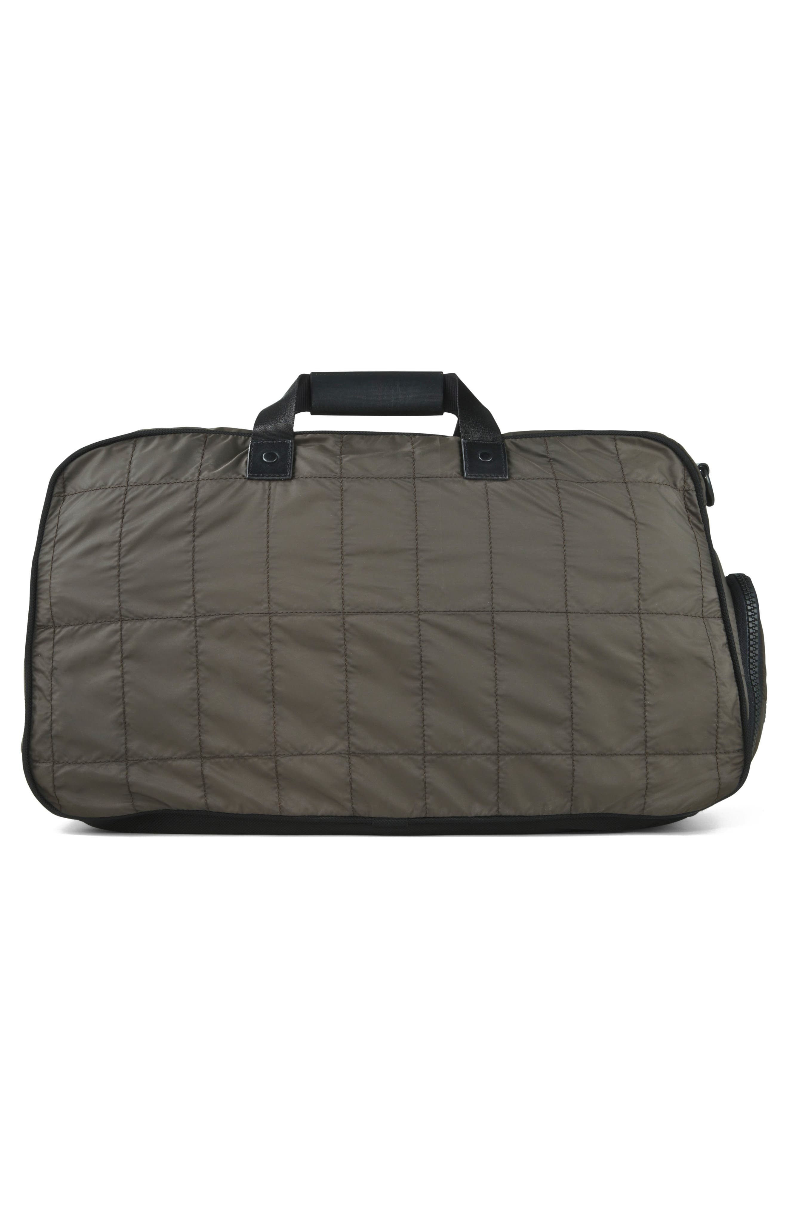 Quilted Nylon Duffel,                             Alternate thumbnail 2, color,                             Army Green