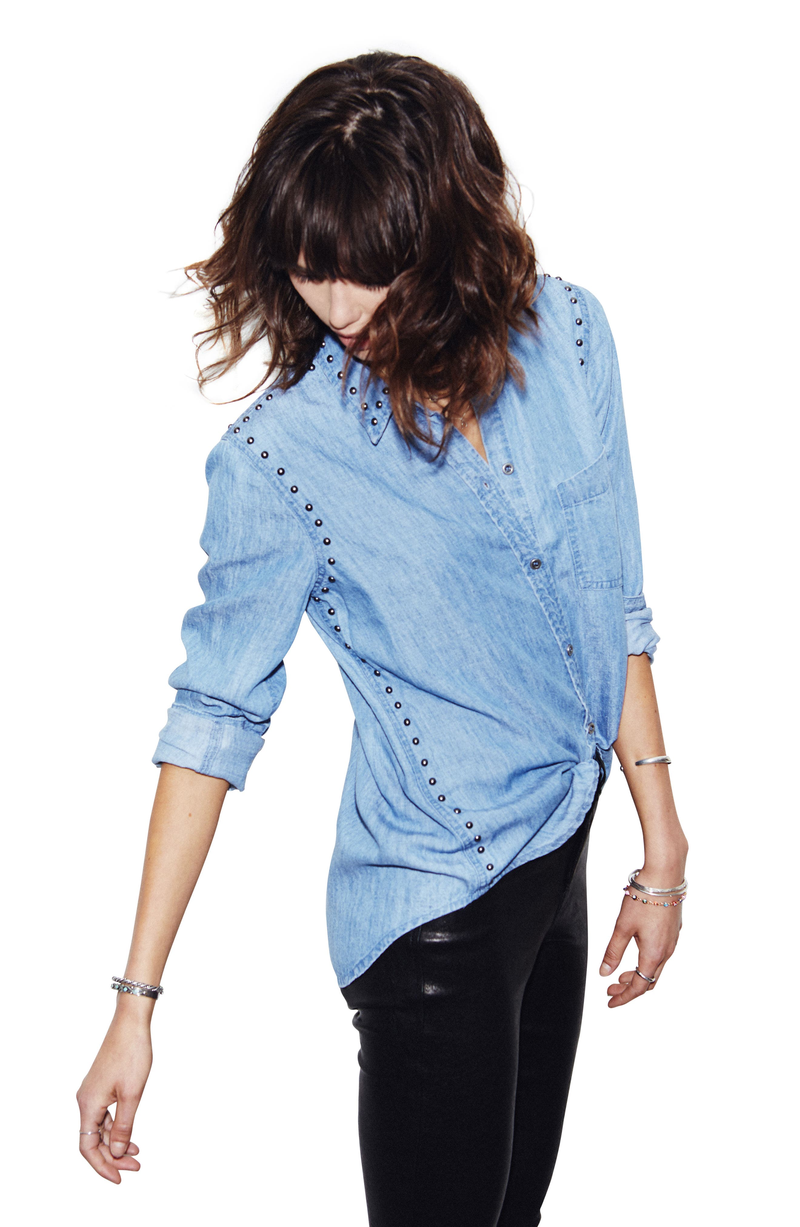 Alternate Image 2  - Rails Ingrid Studded Shirt