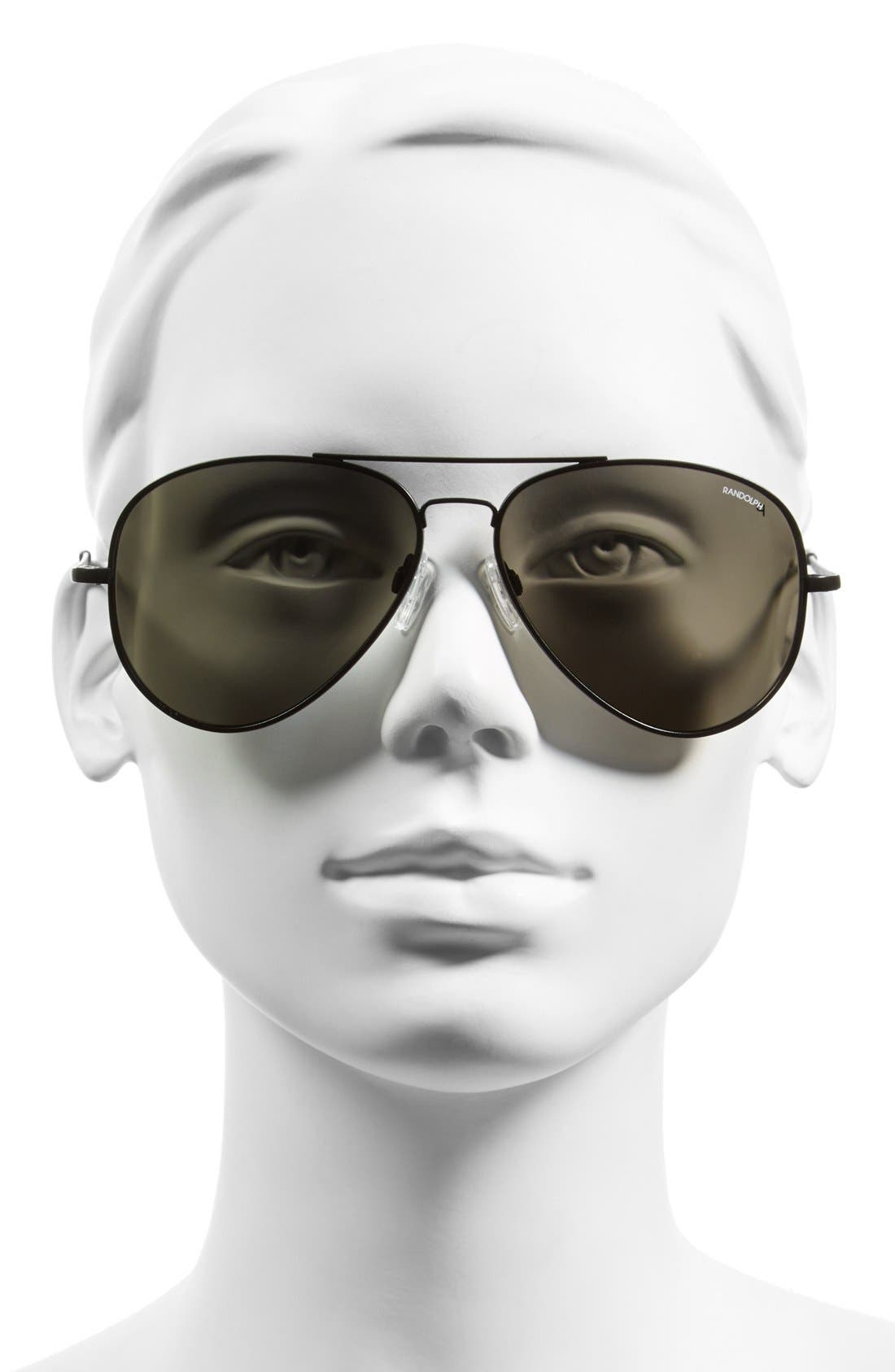 Alternate Image 2  - Randolph Engineering 'Concorde' 61mm Aviator Sunglasses