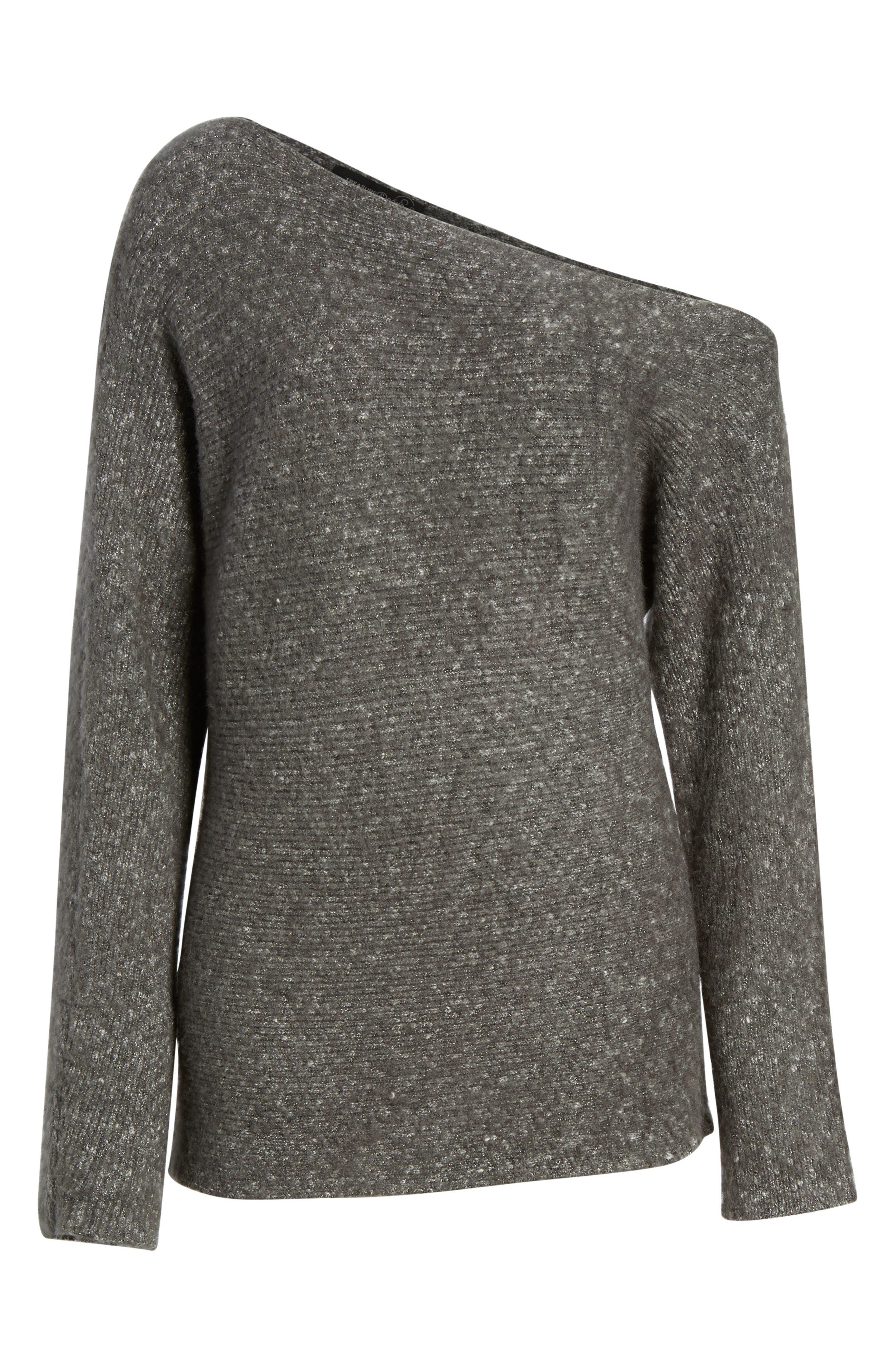 Alternate Image 6  - Treasure & Bond One-Shoulder Ribbed Sweater