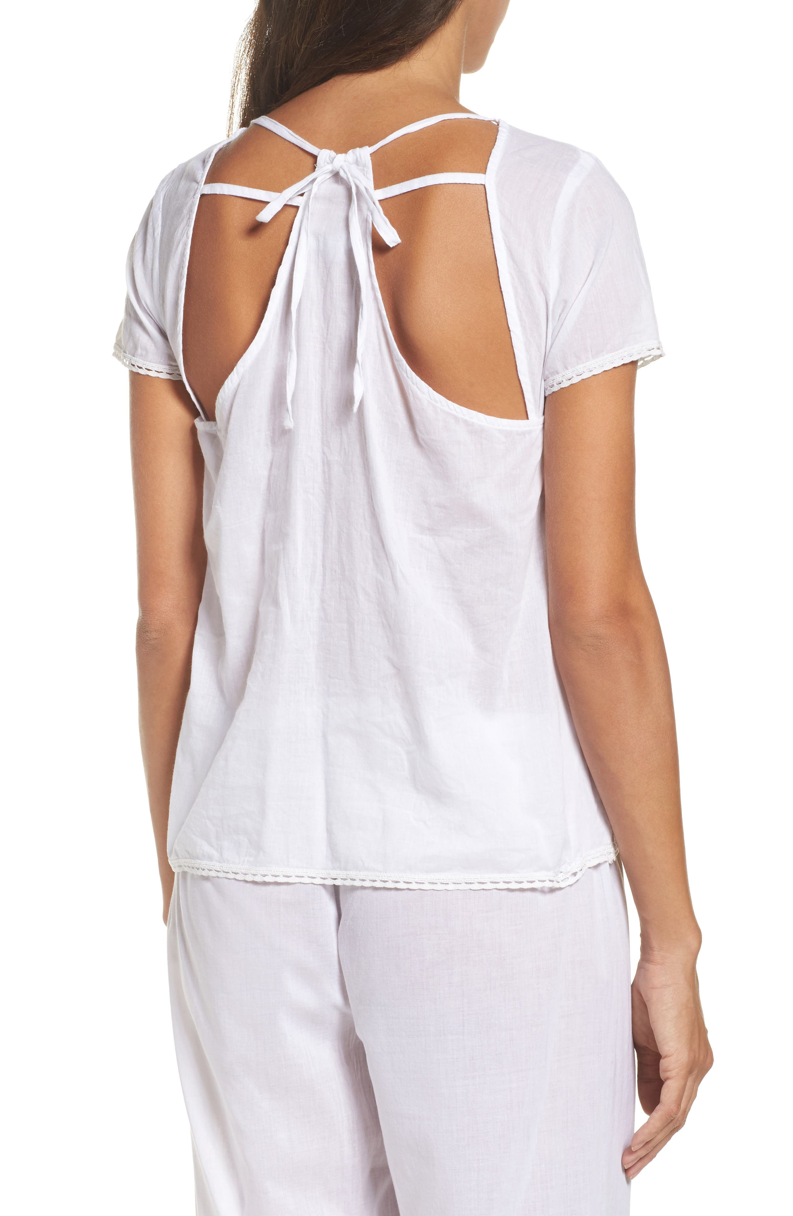 Tie Back Top,                             Alternate thumbnail 2, color,                             White
