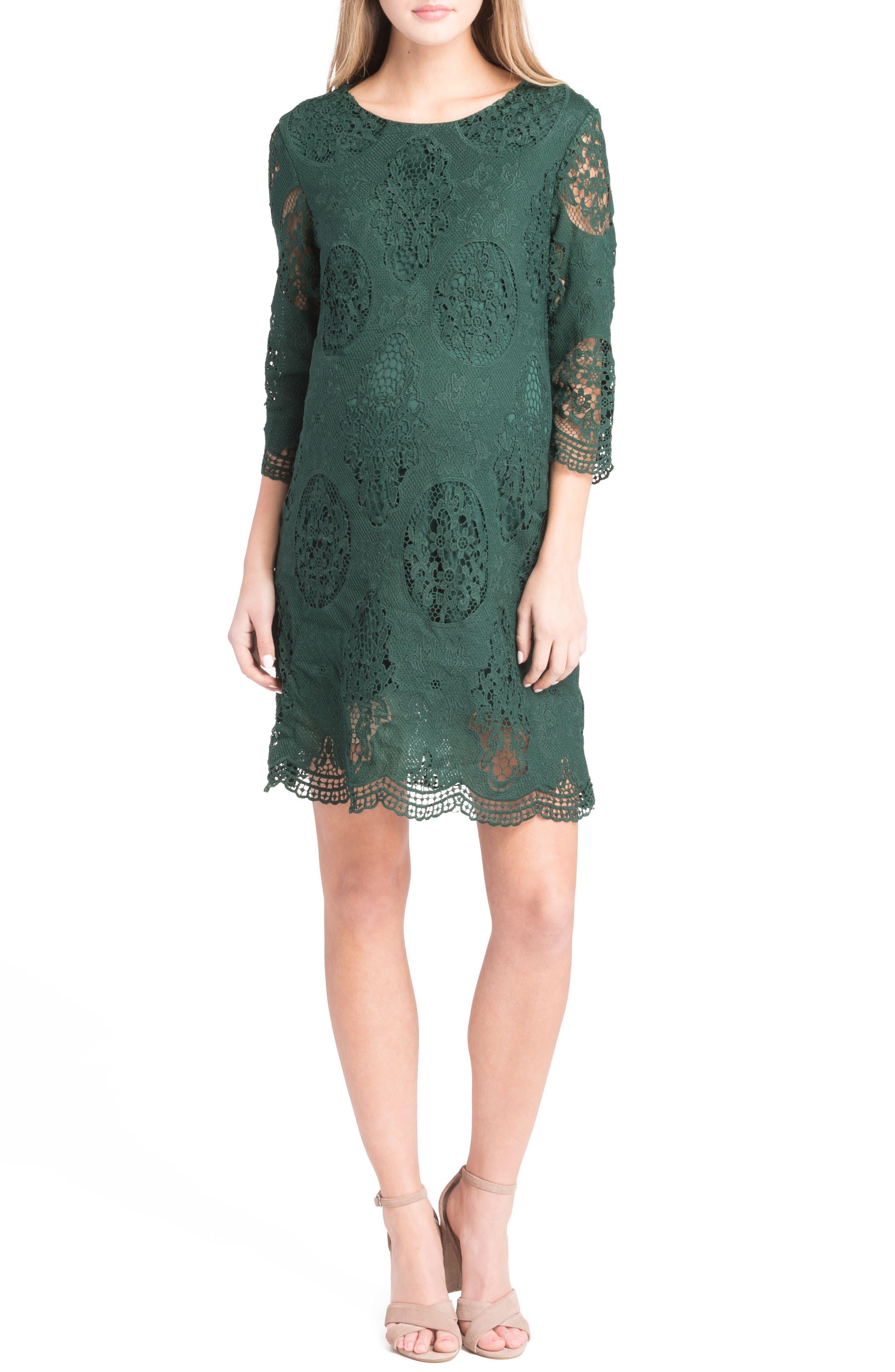 Lilac Clothing Lace Maternity Dress