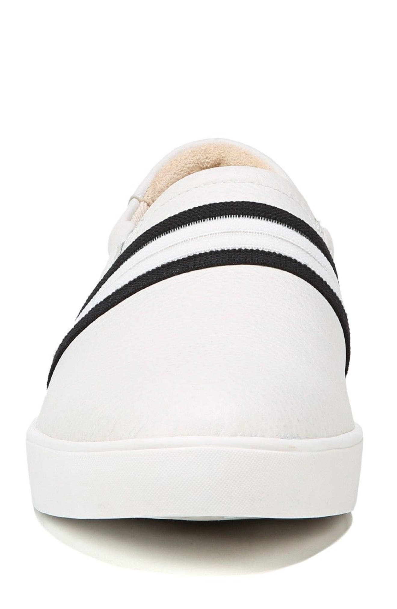 Scout Slip-On Sneaker,                             Alternate thumbnail 4, color,                             White Leather