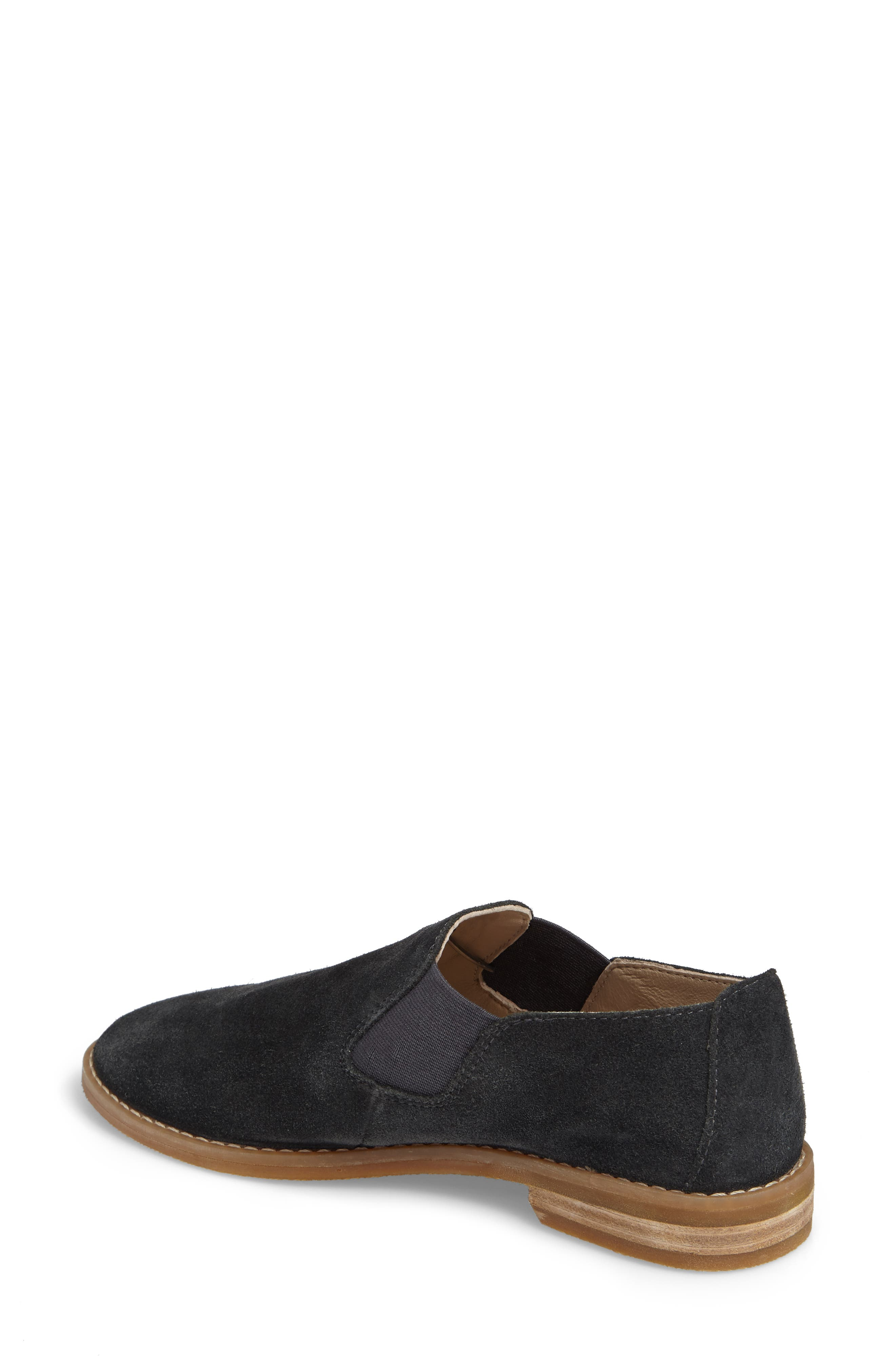 Analise Clever Flat,                             Alternate thumbnail 2, color,                             Granite Gray Suede
