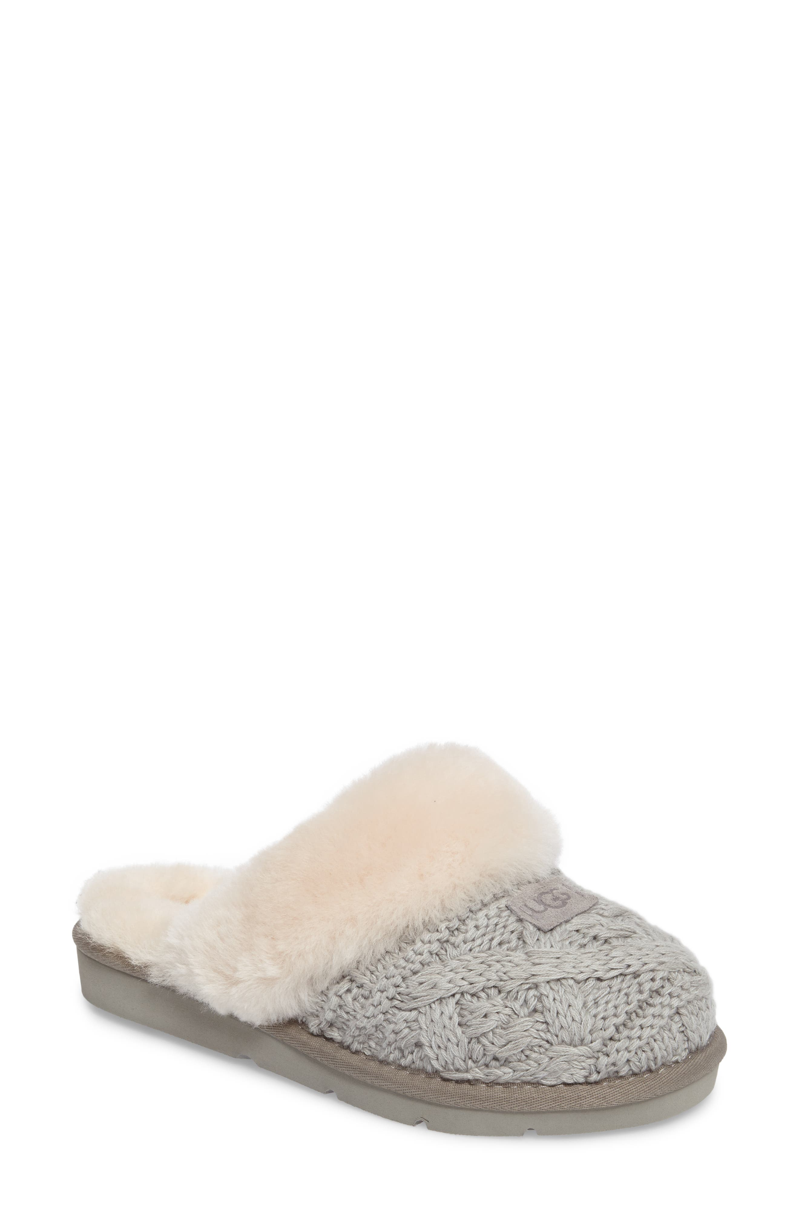 Cozy Cable Slipper,                             Main thumbnail 1, color,                             Seal Fabric