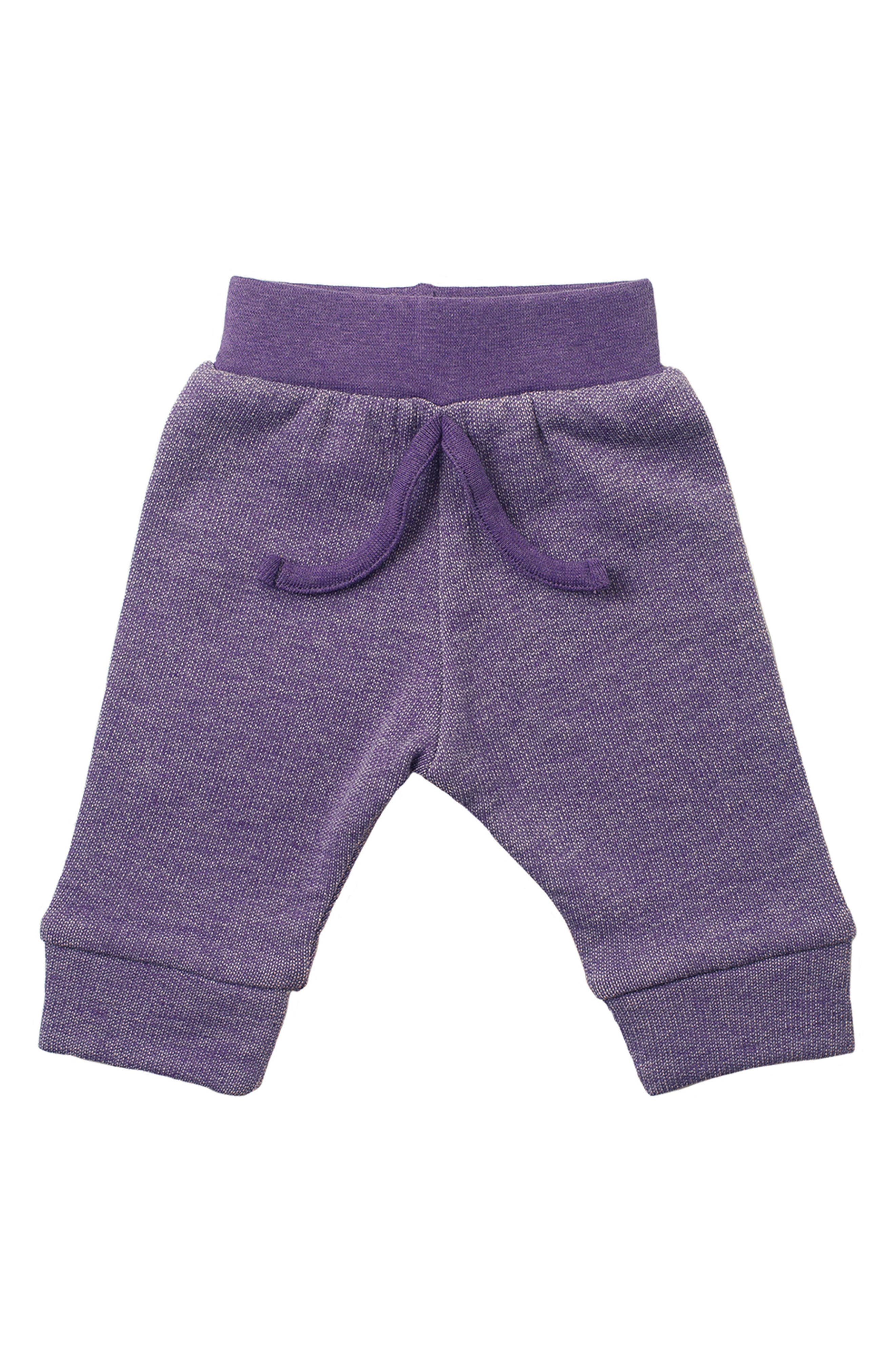 Organic Cotton Sweatpants,                         Main,                         color, Dark Purple Heather
