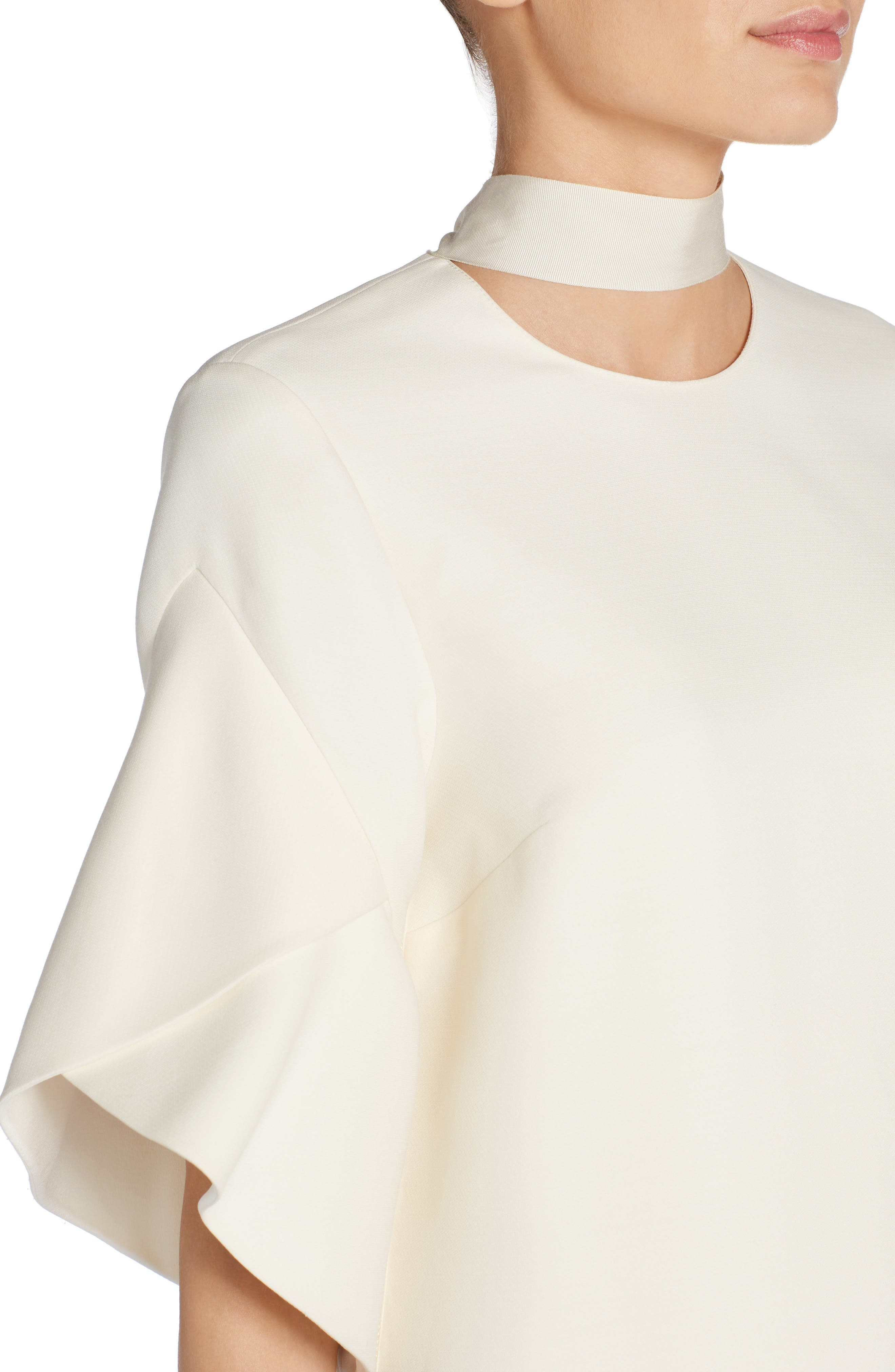 Alternate Image 4  - Fendi Wool & Silk Gazar Shift Dress