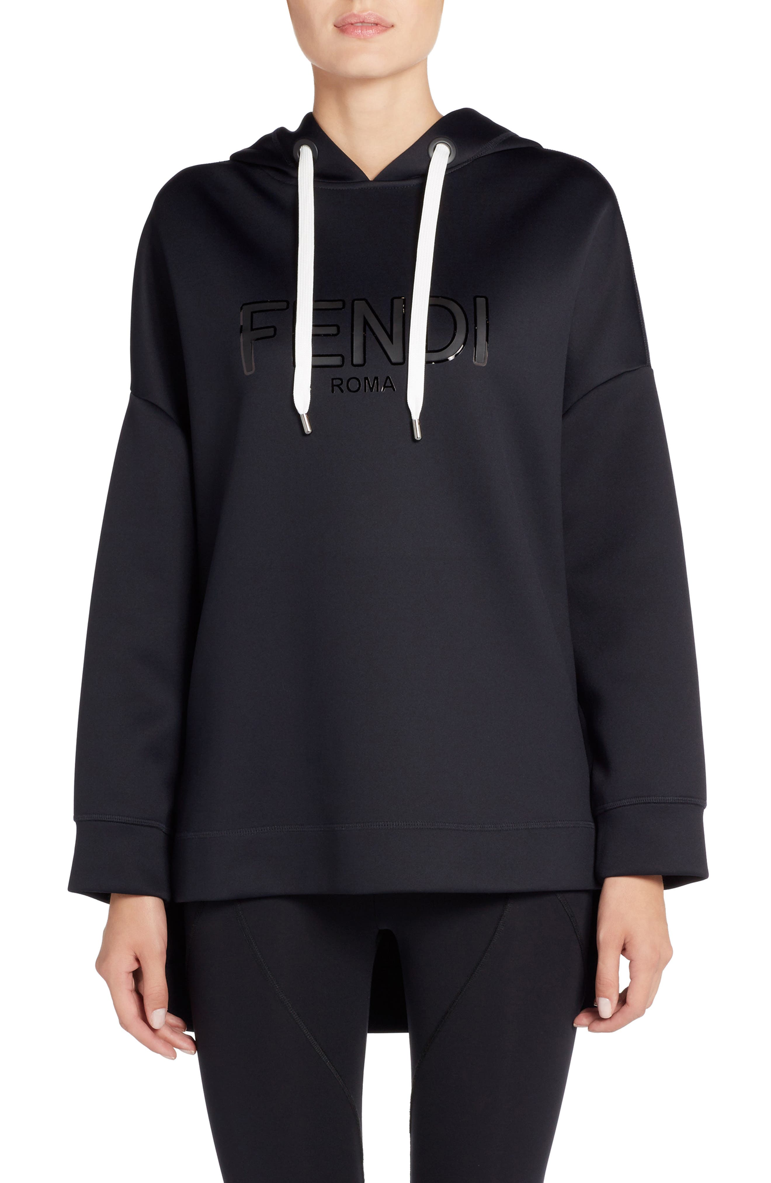 Roma Jersey Hoodie,                         Main,                         color, Black