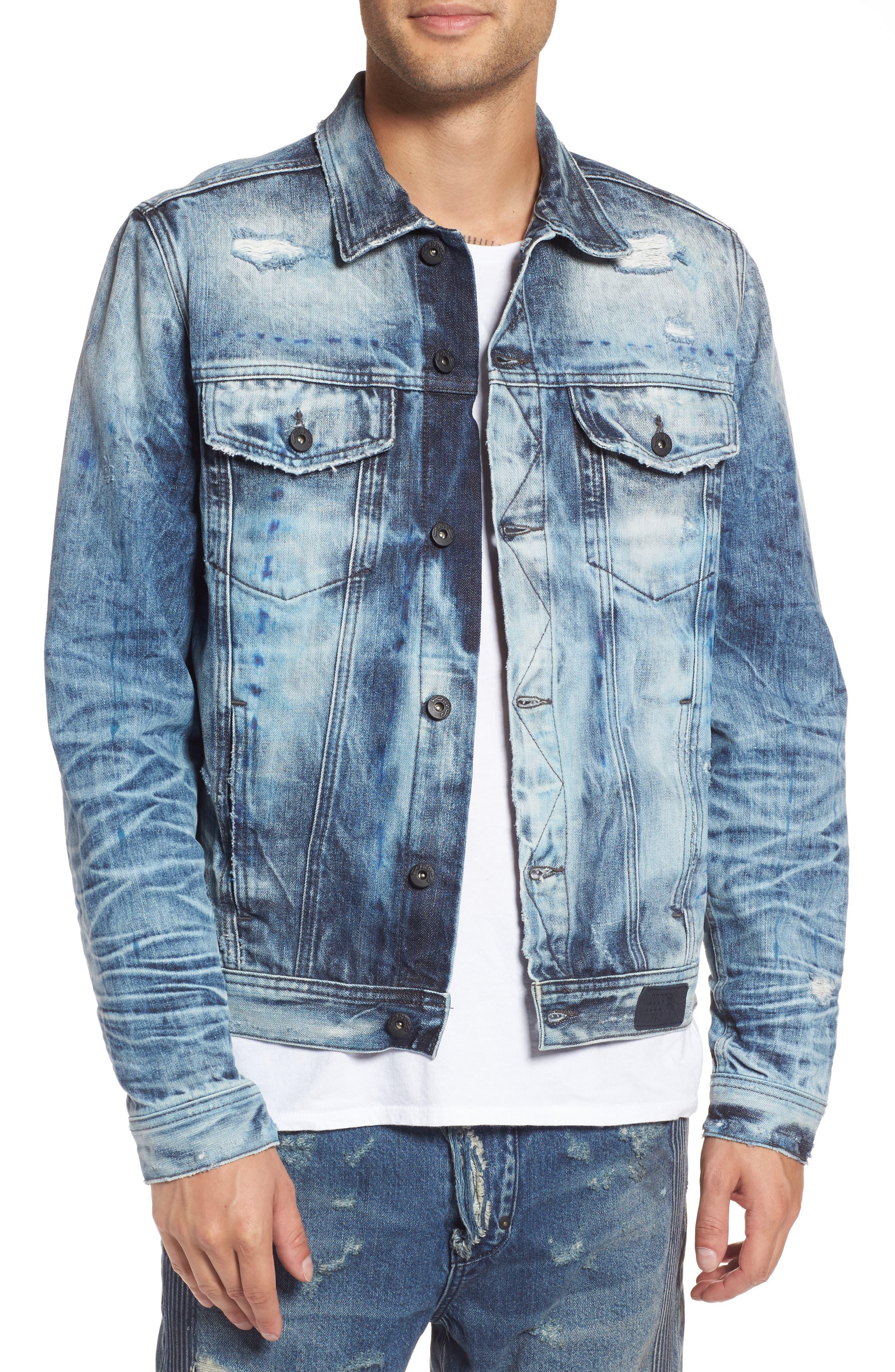 Denim Jacket,                         Main,                         color, Rainy Medium Wash
