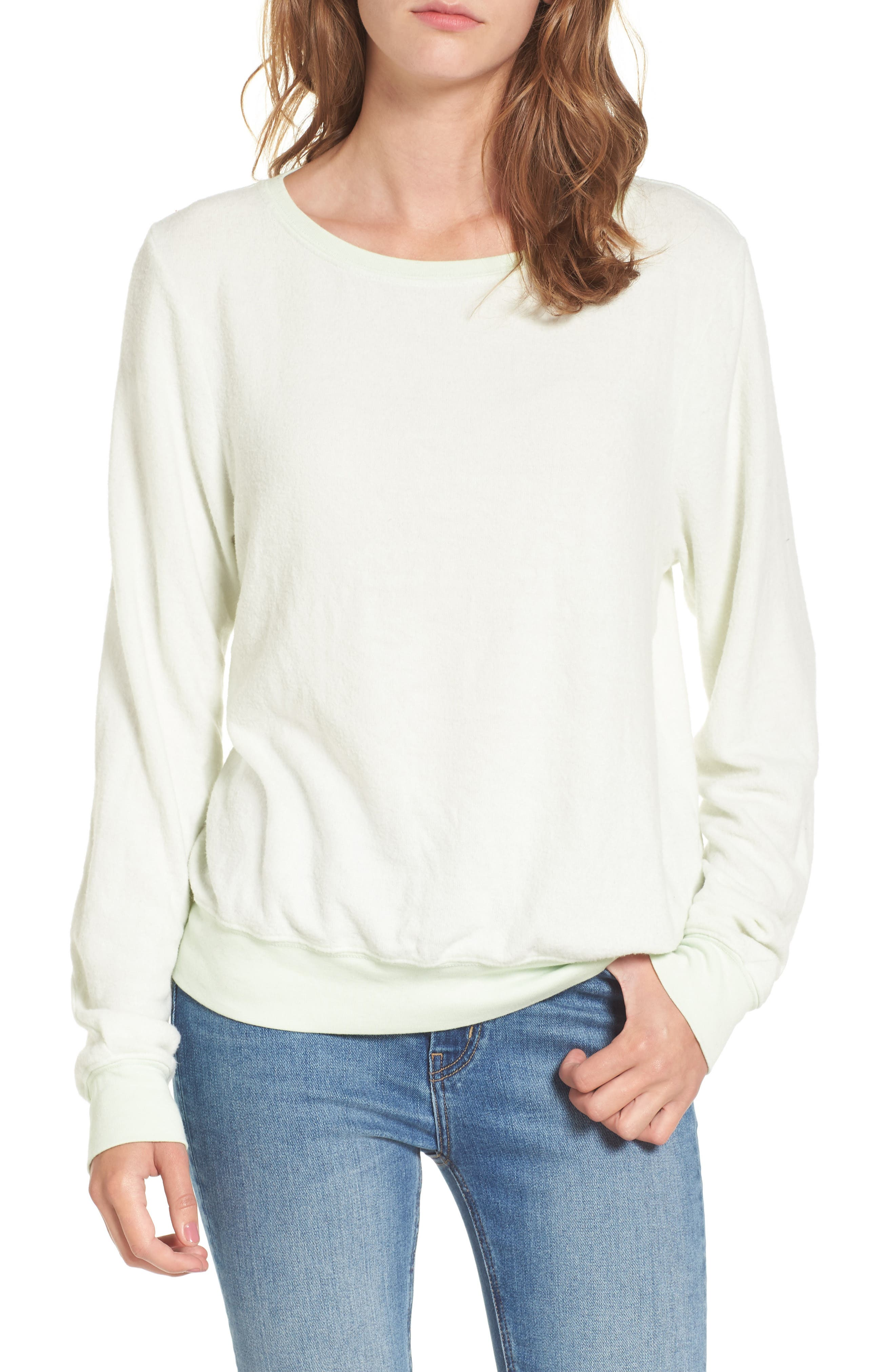 Relaxed Sweatshirt,                         Main,                         color, Sour Lime
