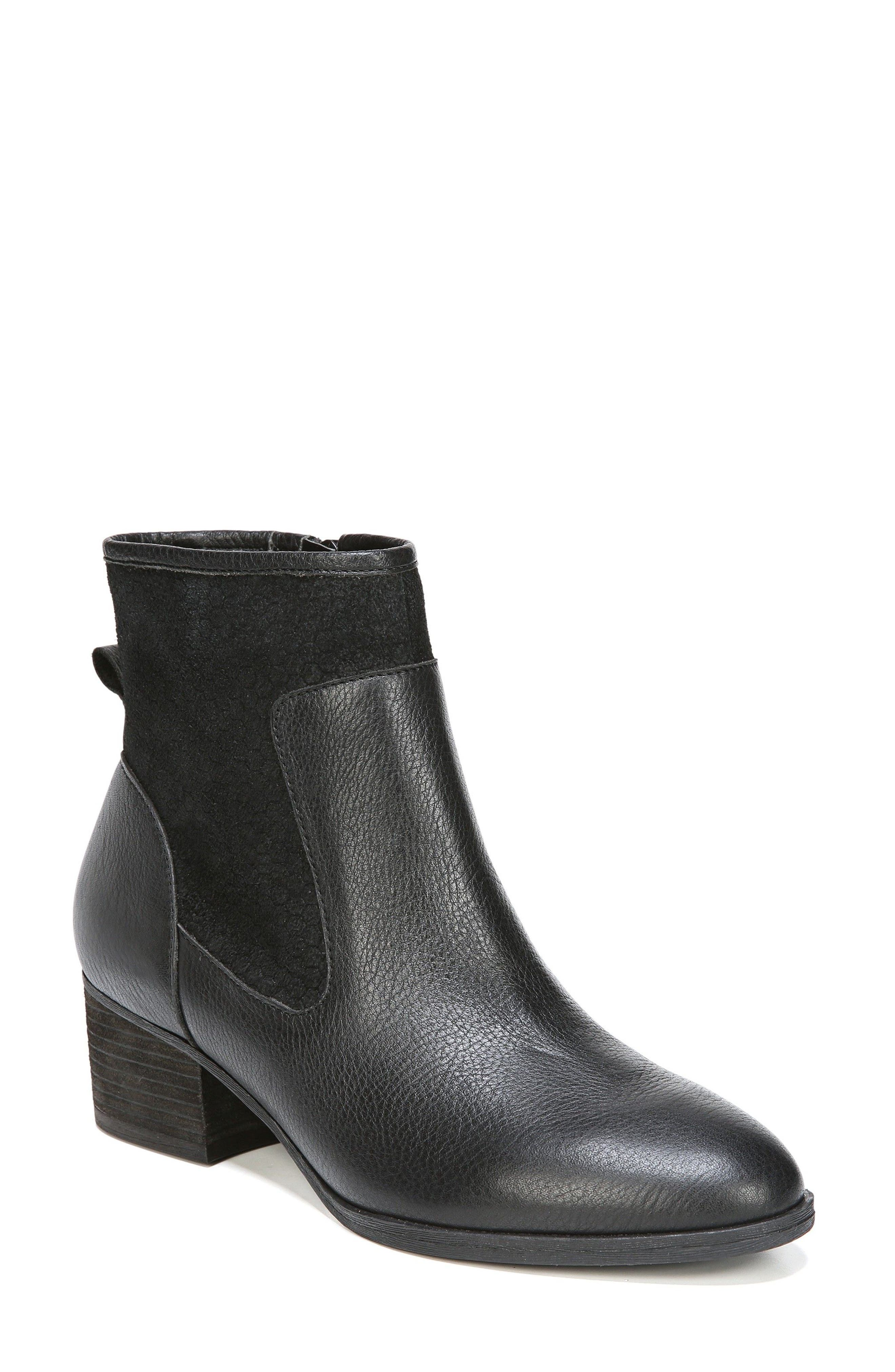 Tawny Bootie,                         Main,                         color, Black Leather