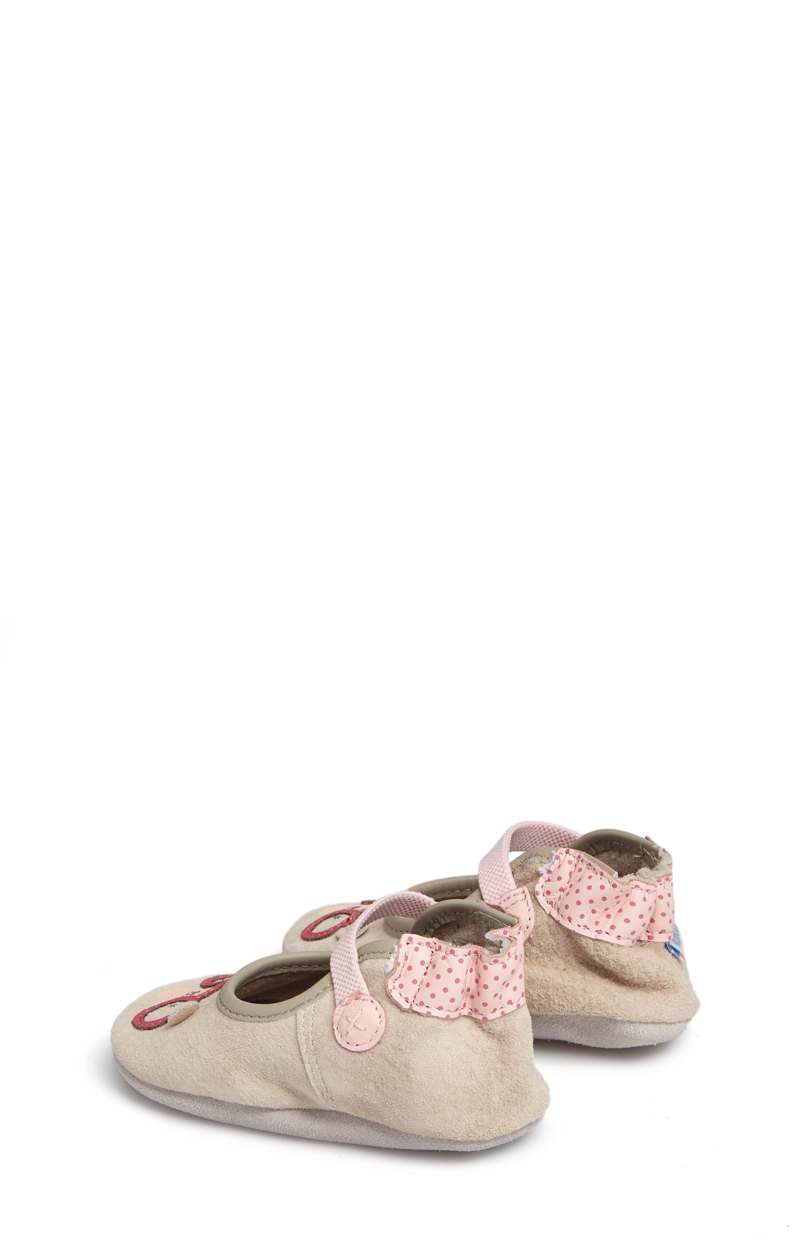 Alternate Image 2  - Robeez® Miss Bear Mary Jane Crib Shoe (Baby & Walker)