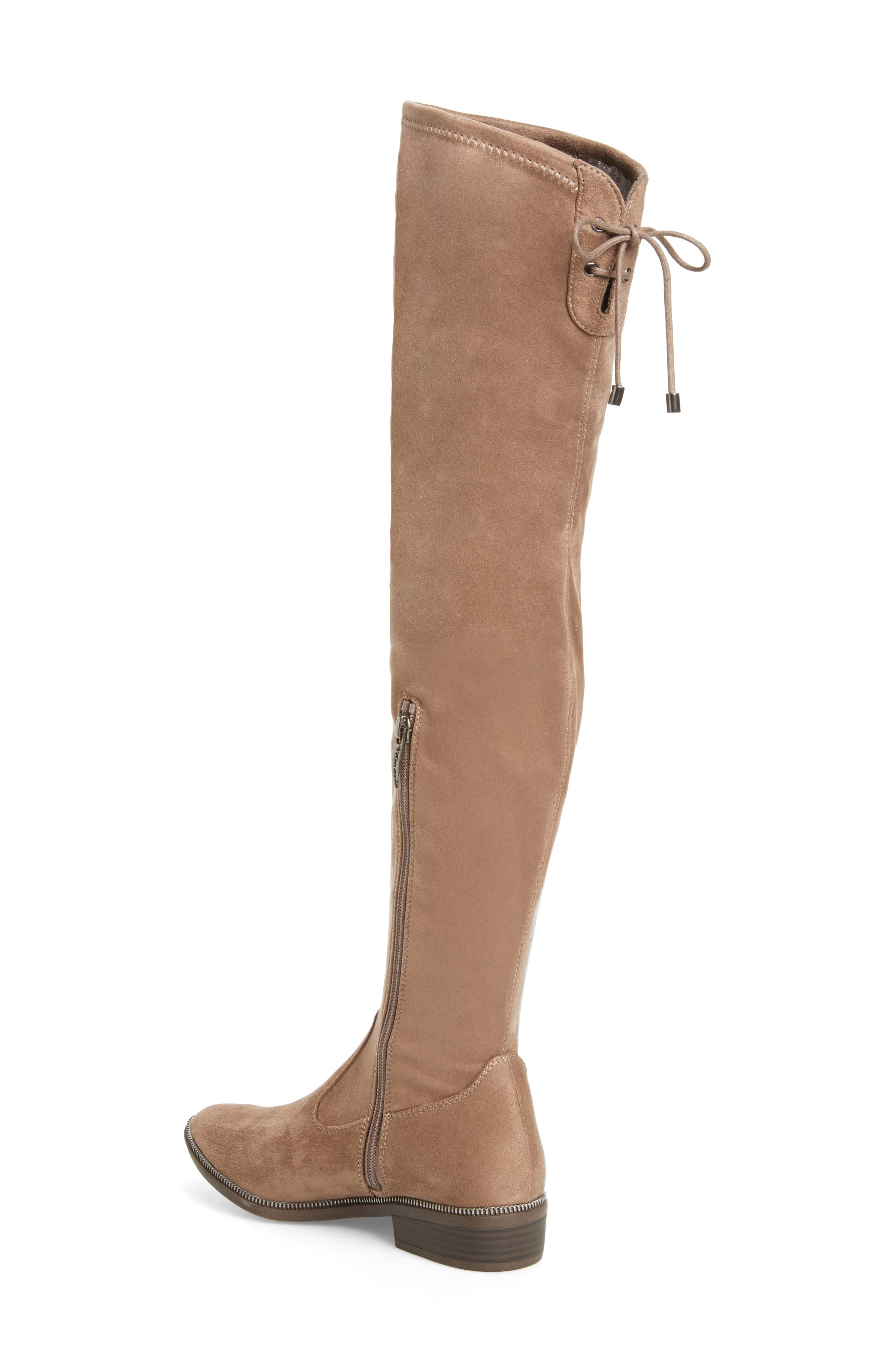 Phanie Over the Knee Stretch Boot,                             Alternate thumbnail 2, color,                             Dune Fabric