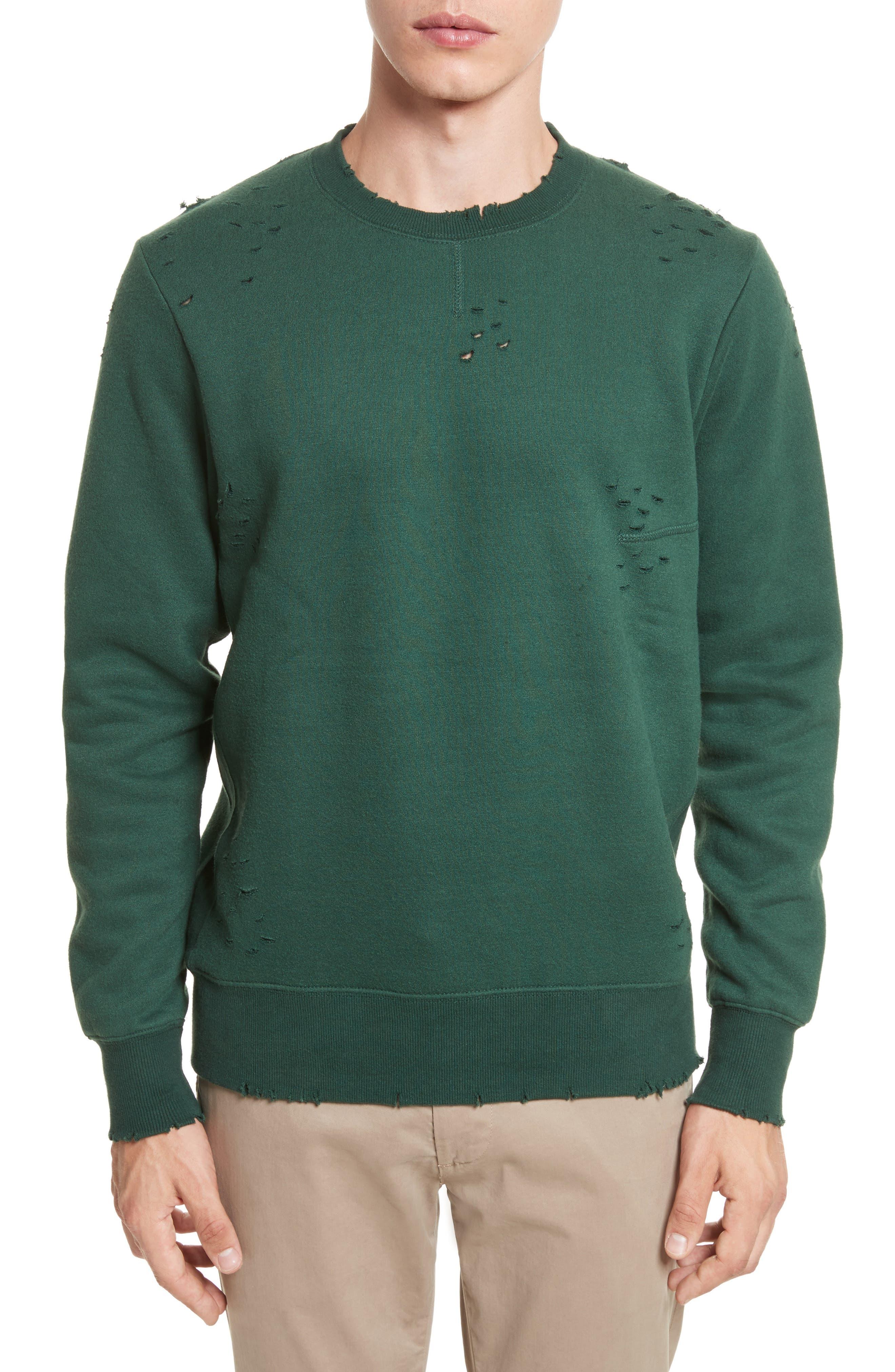 Crewneck Sweater,                         Main,                         color, Racing Green