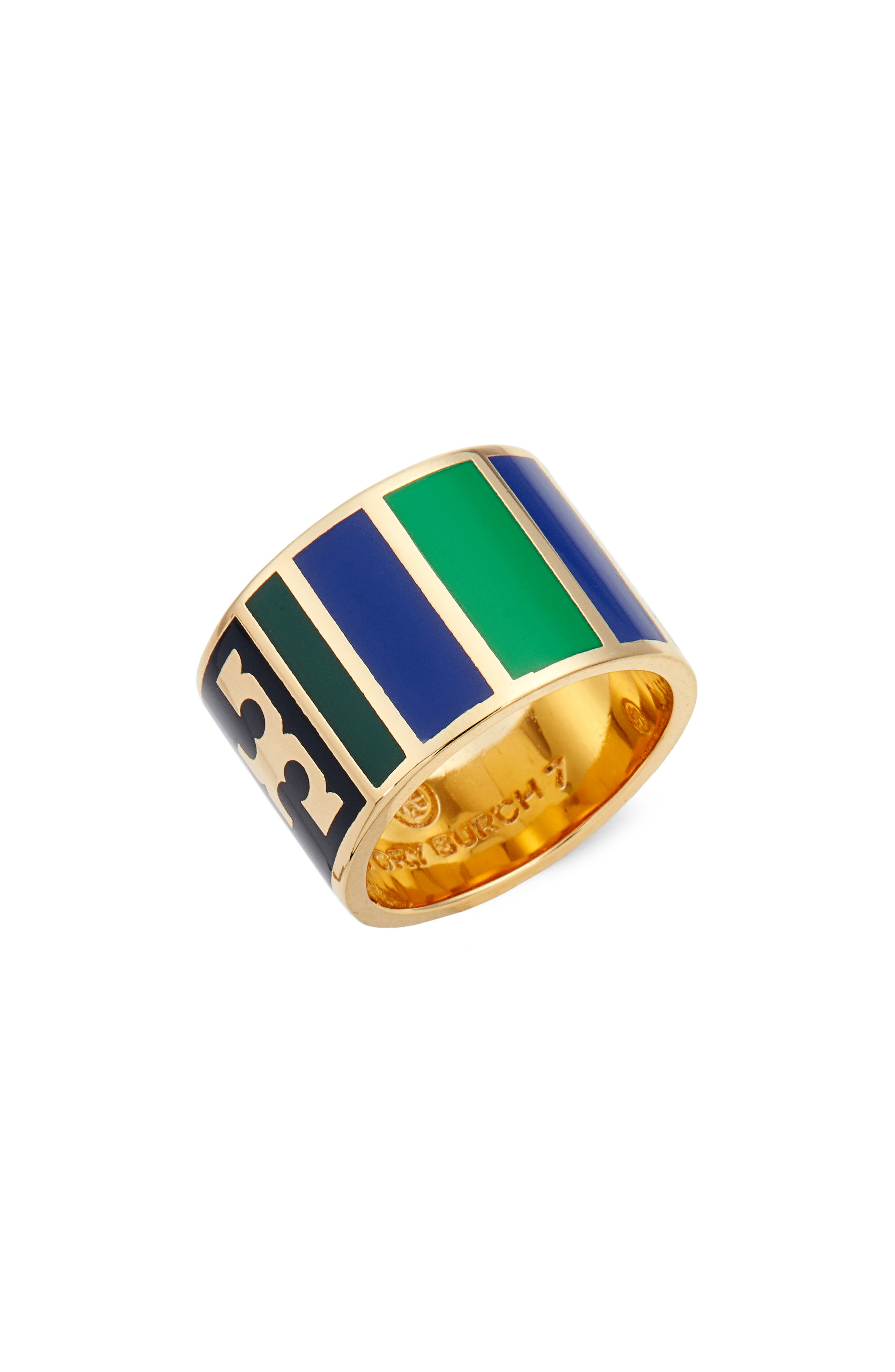 Tory Burch Geo Stripe Ring