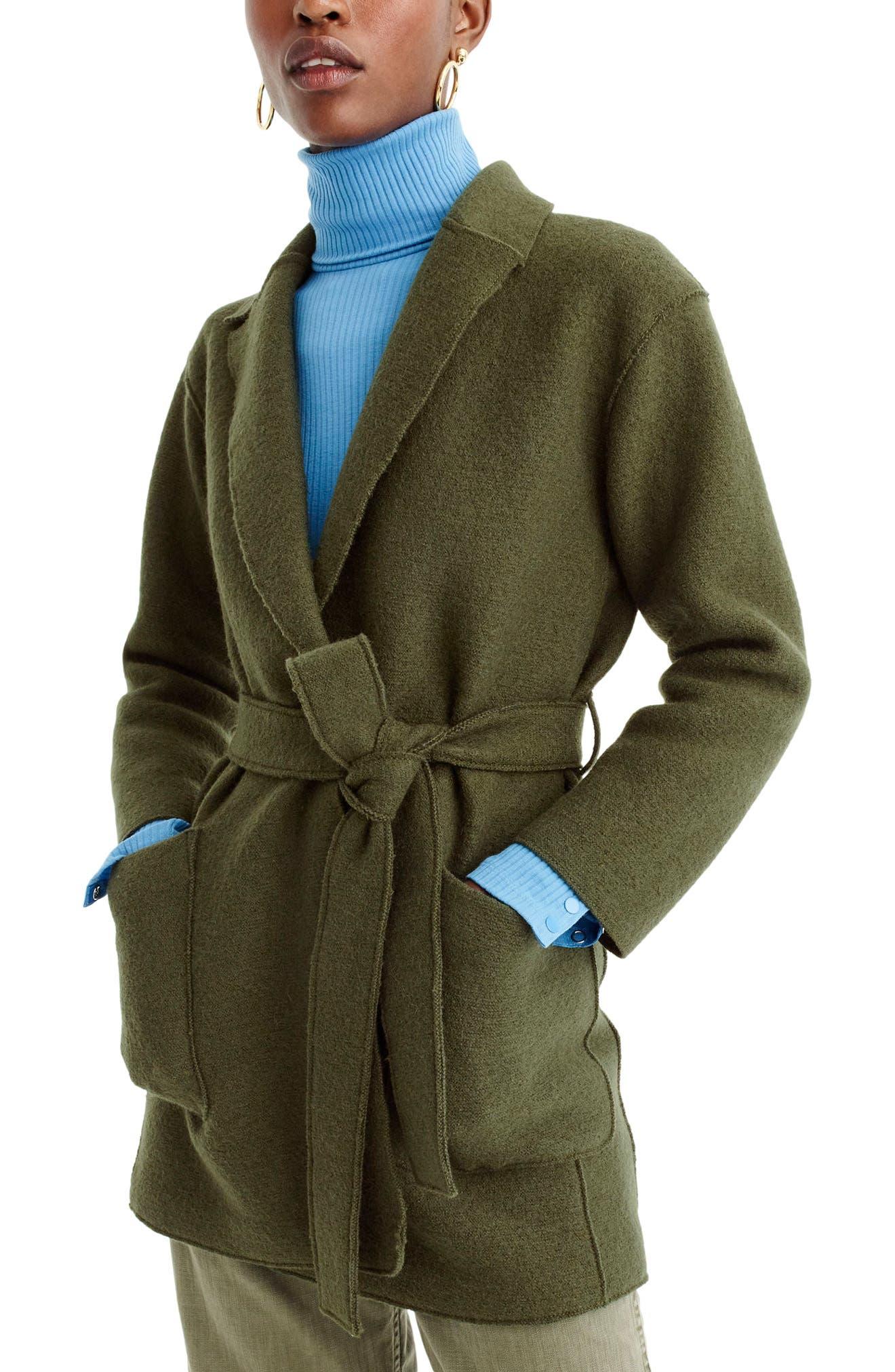 J.Crew Sabrina Boiled Wool Wrap Coat (Regular & Petite)