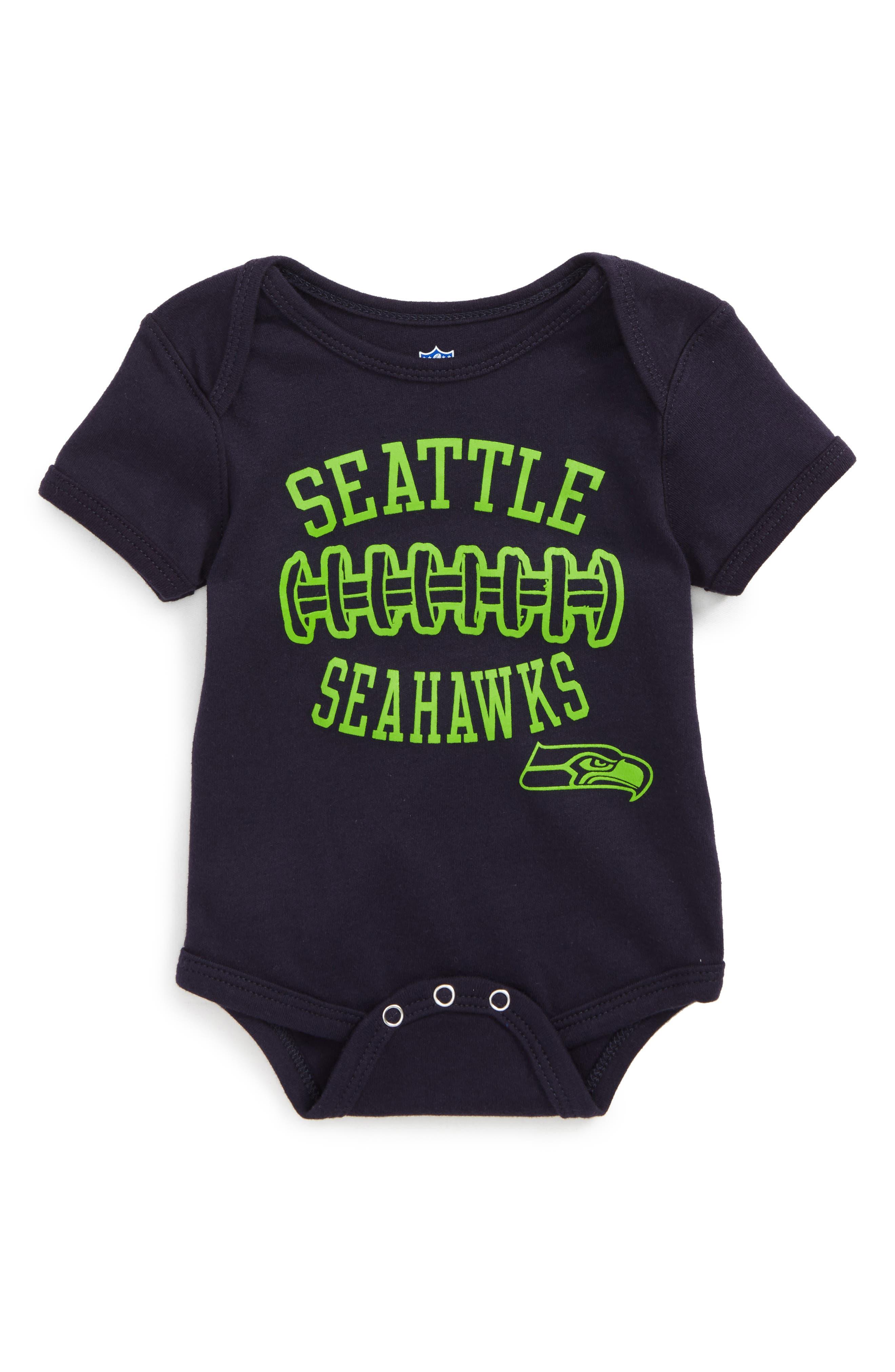 NFL Logo Seattle Seahawks Fan-Atic Football Bodysuit (Baby)