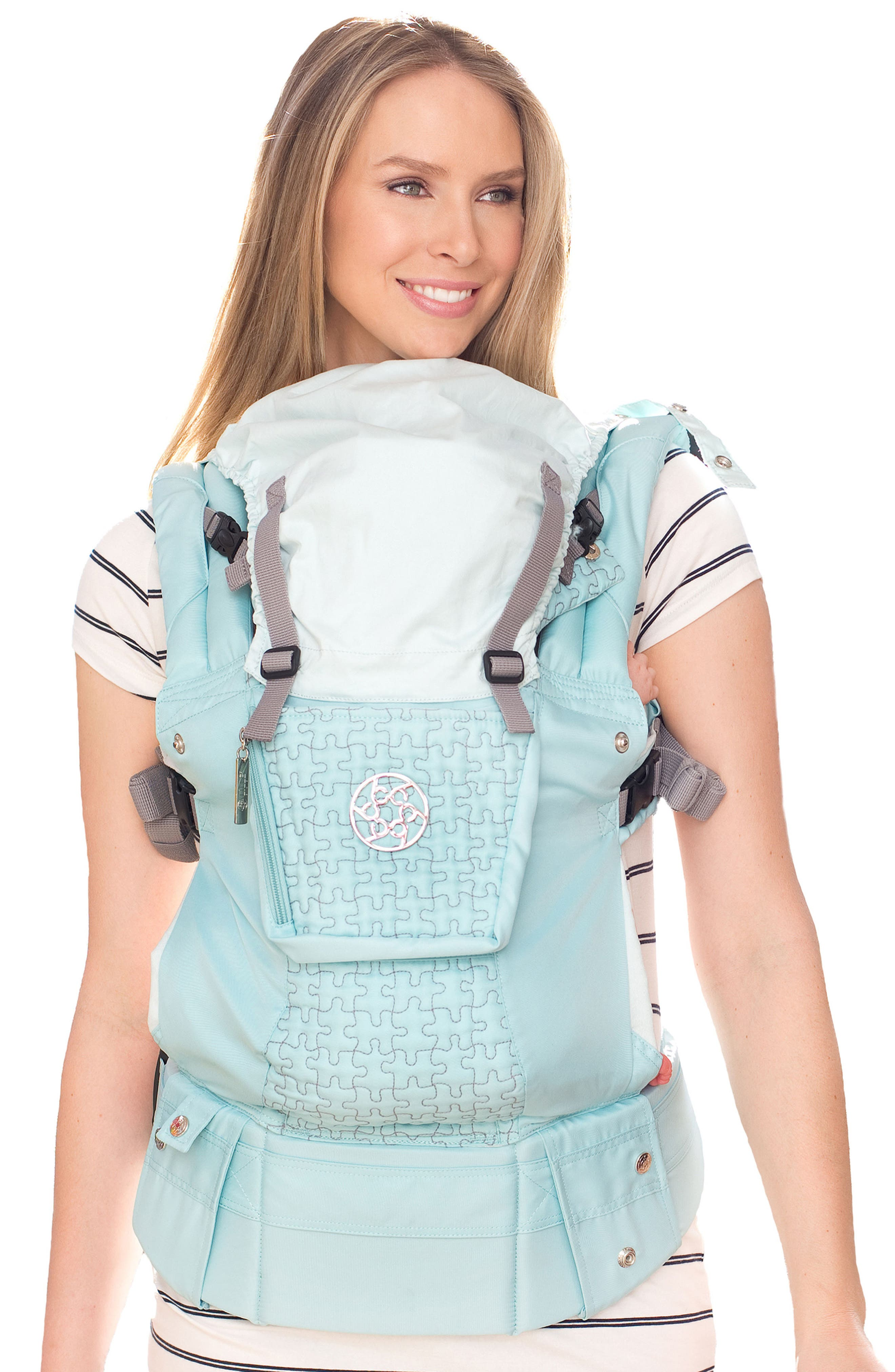 'Complete Embossed Luxe' Baby Carrier,                         Main,                         color, Green
