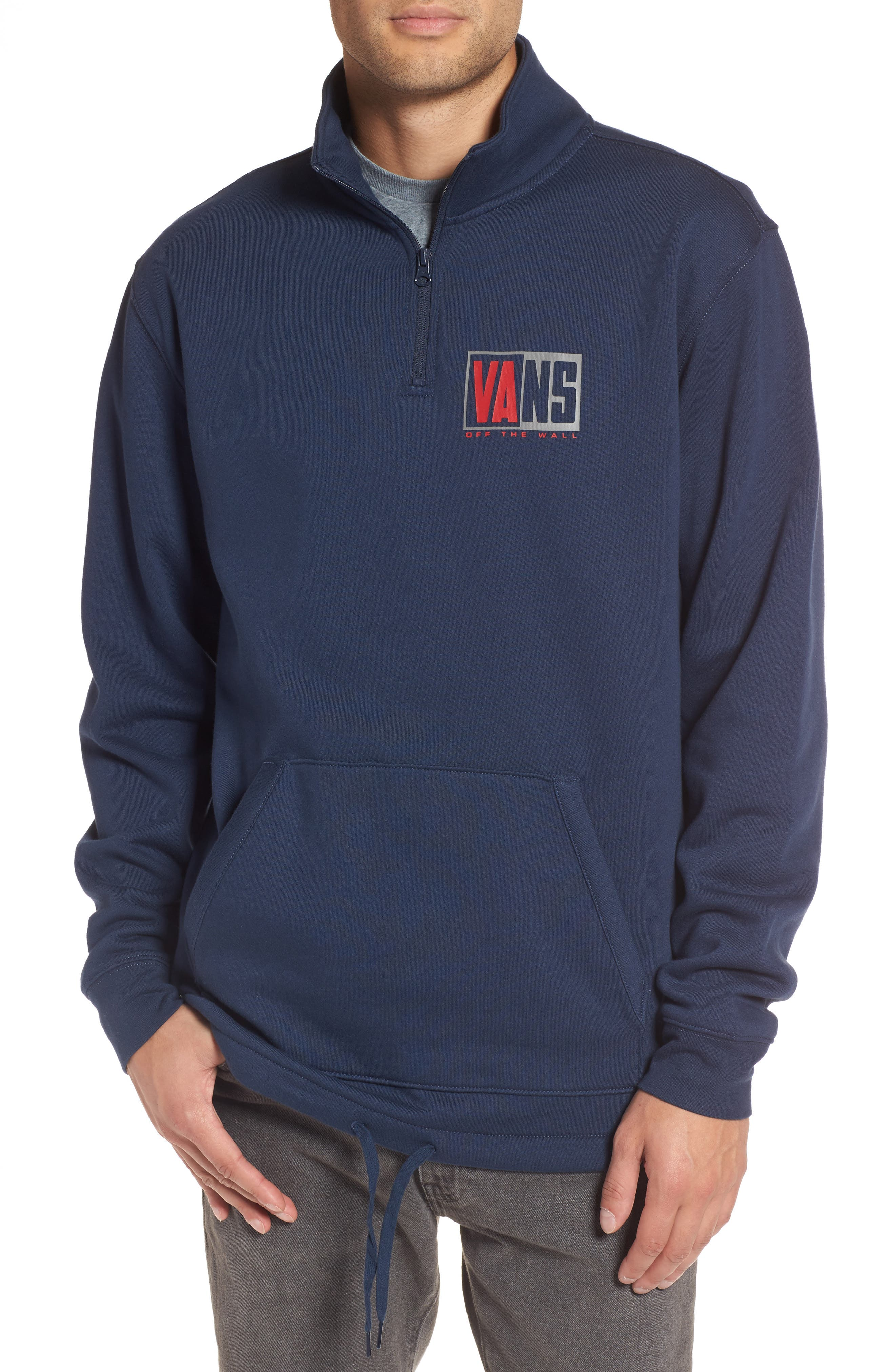 Fifty Fifty Half Zip Pullover,                         Main,                         color, Dress Blues