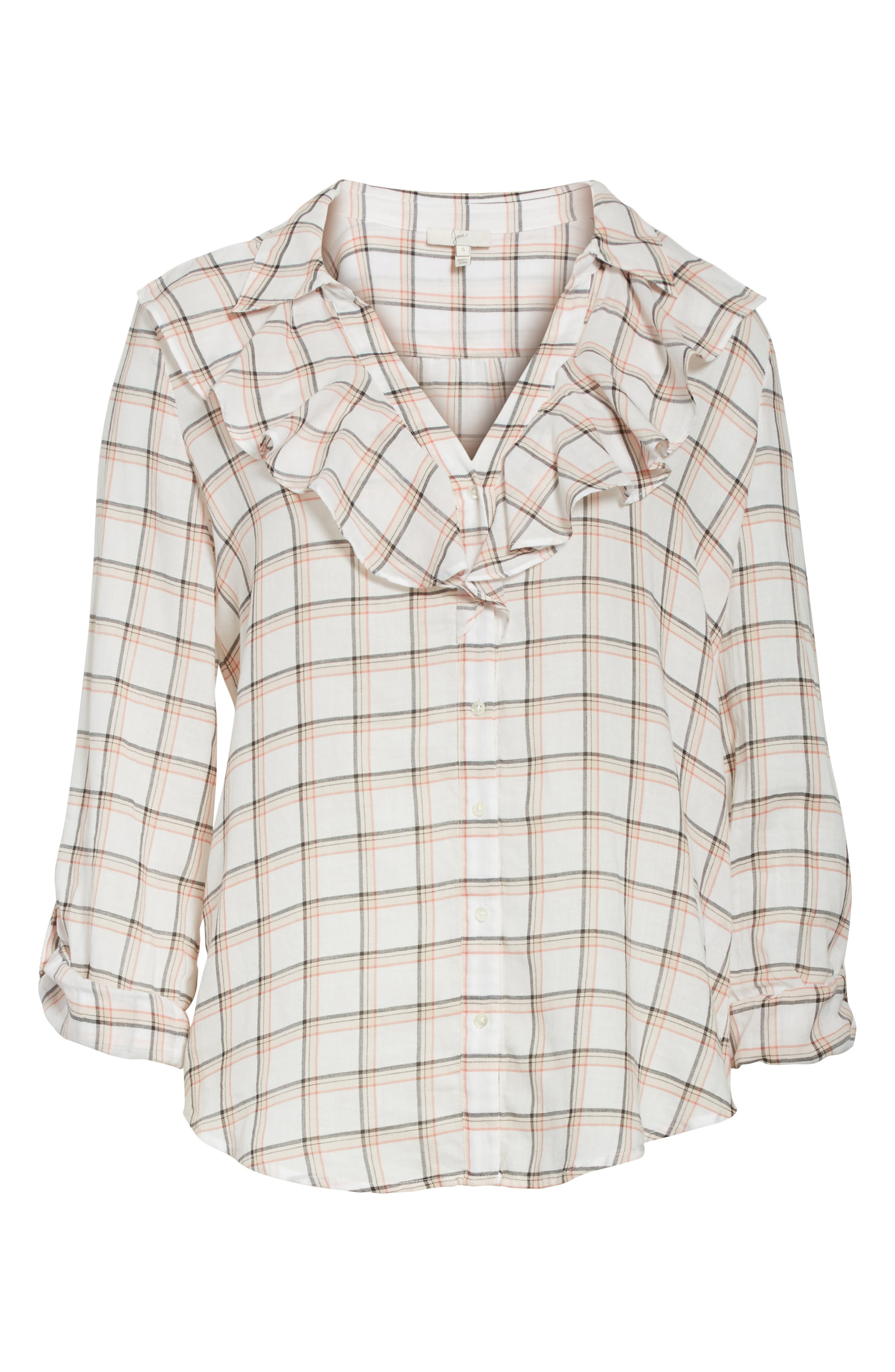 Fara Plaid Top,                             Alternate thumbnail 6, color,                             Porcelain