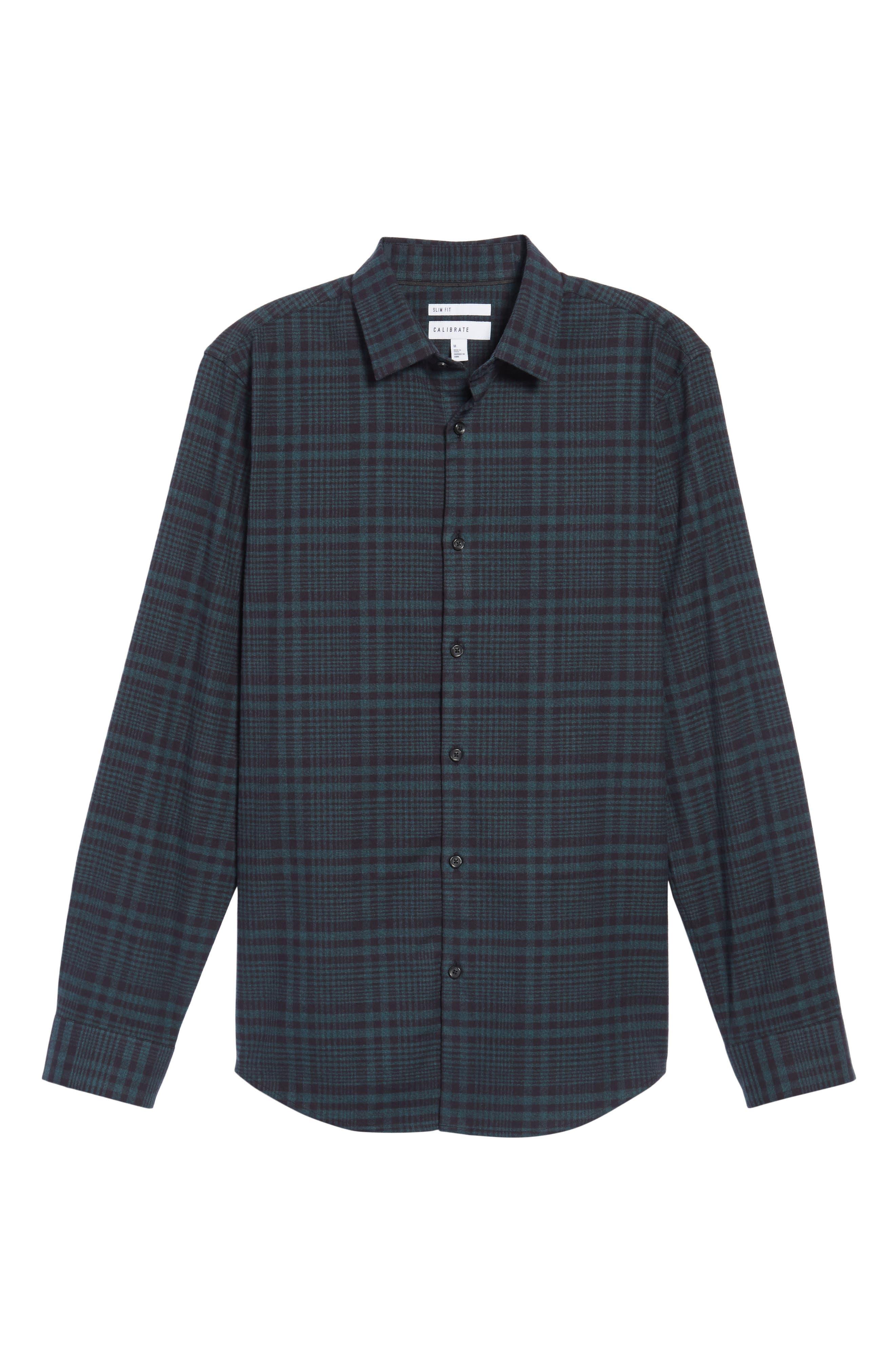 Alternate Image 6  - Calibrate Plaid Flannel Sport Shirt
