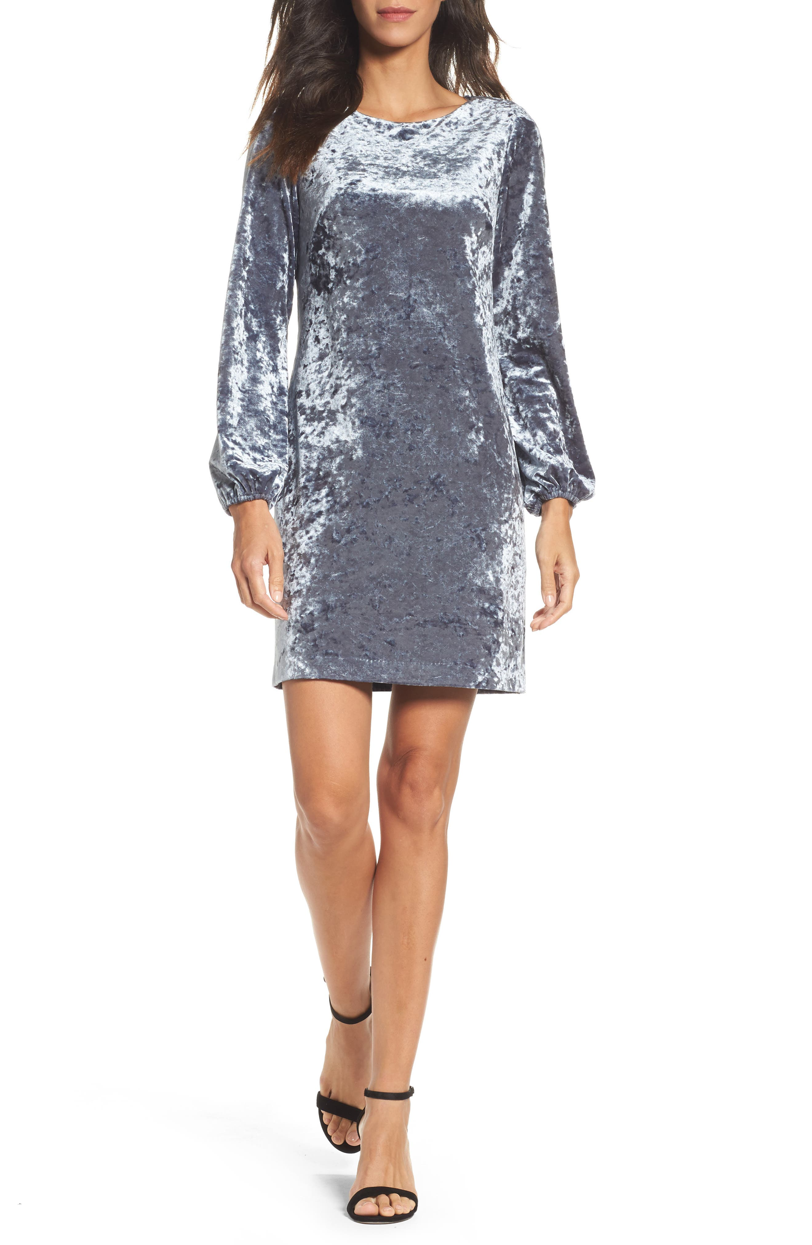 Adrianna Papell Crushed Velvet Shift Dress