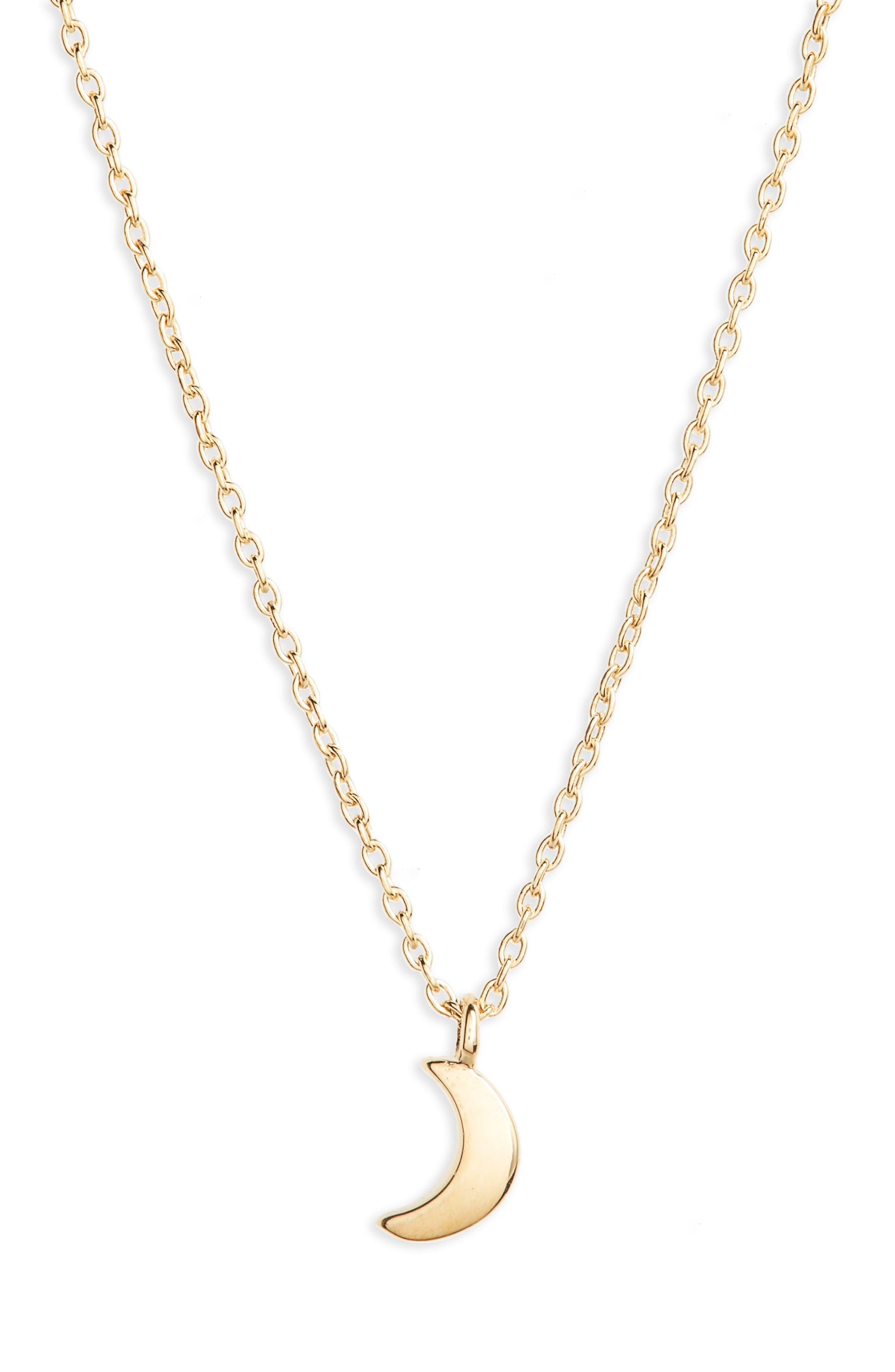 Main Image - Shinola Crescent Moon Charm Necklace