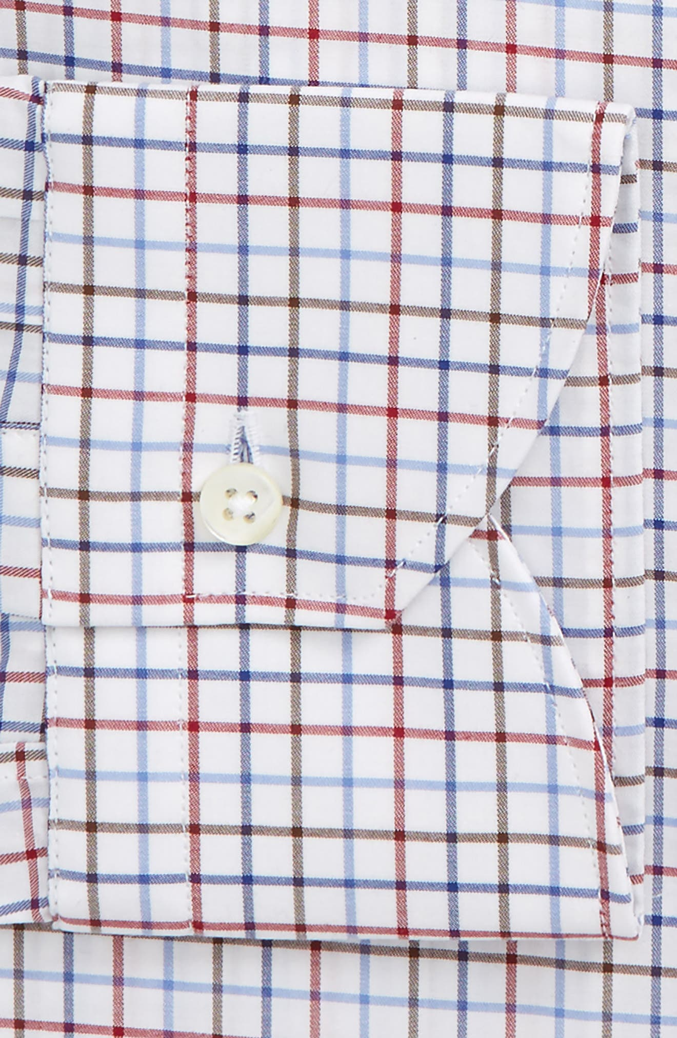 Regular Fit Check Dress Shirt,                             Alternate thumbnail 2, color,                             Red