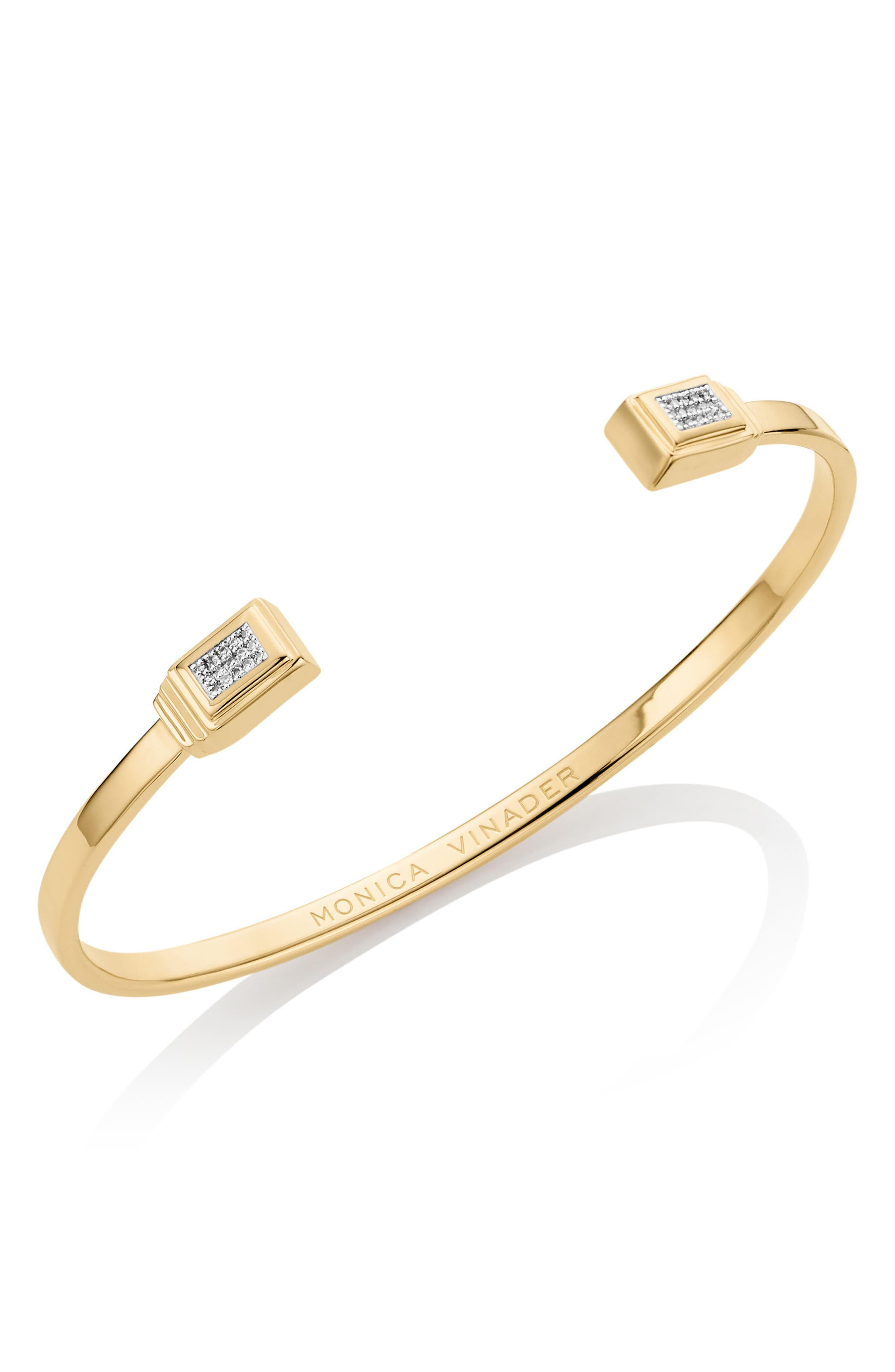Monica Vinader Baja Deco Diamond Cuff