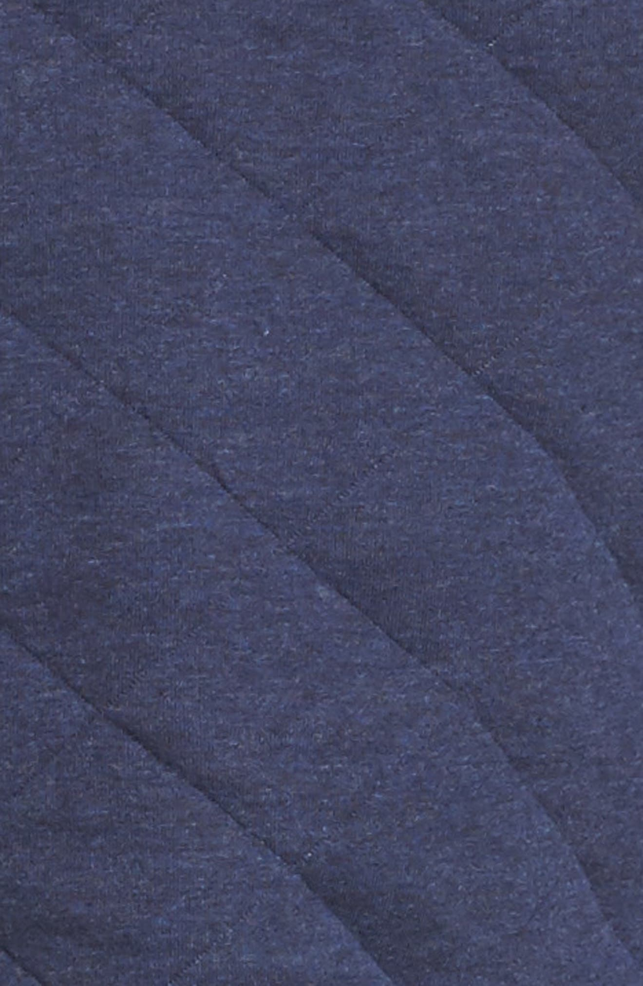 'Kayla' Quilted Hoodie,                             Alternate thumbnail 6, color,                             Navy Heather