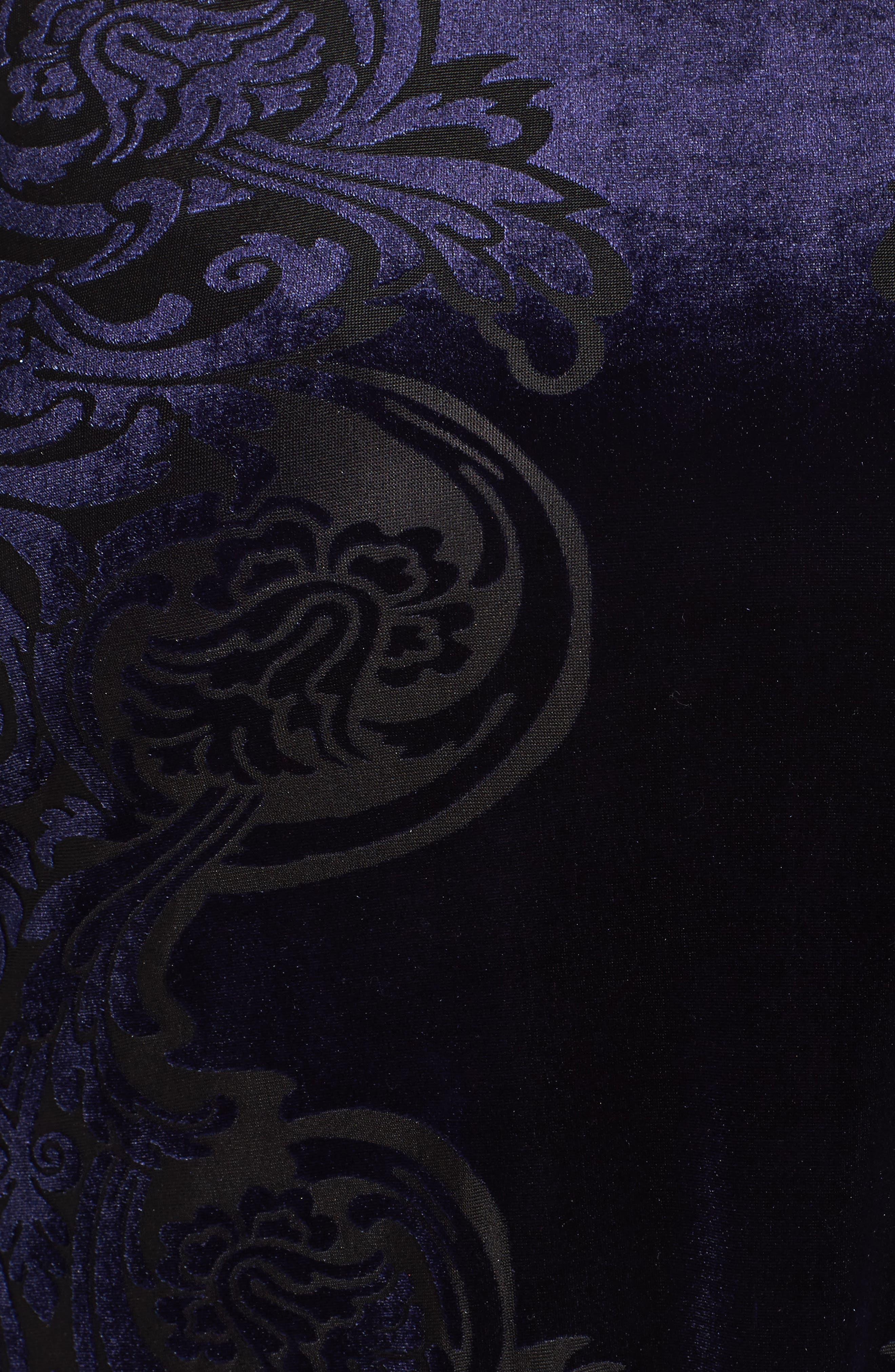 Alternate Image 5  - Eliza J Burnout Velvet Shift Dress (Plus Szie)