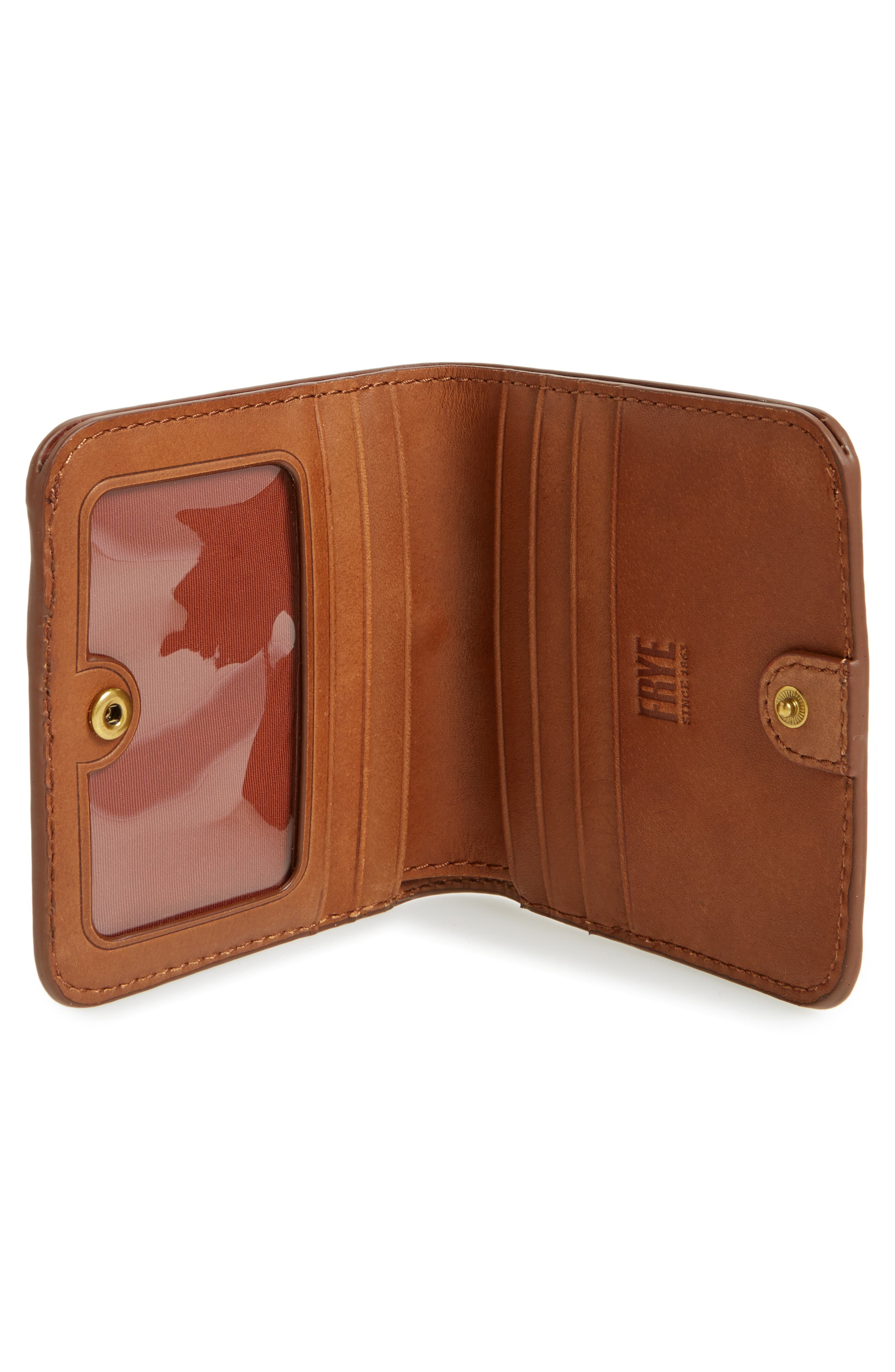 Small Campus Rivet Leather Wallet,                             Alternate thumbnail 2, color,                             Saddle