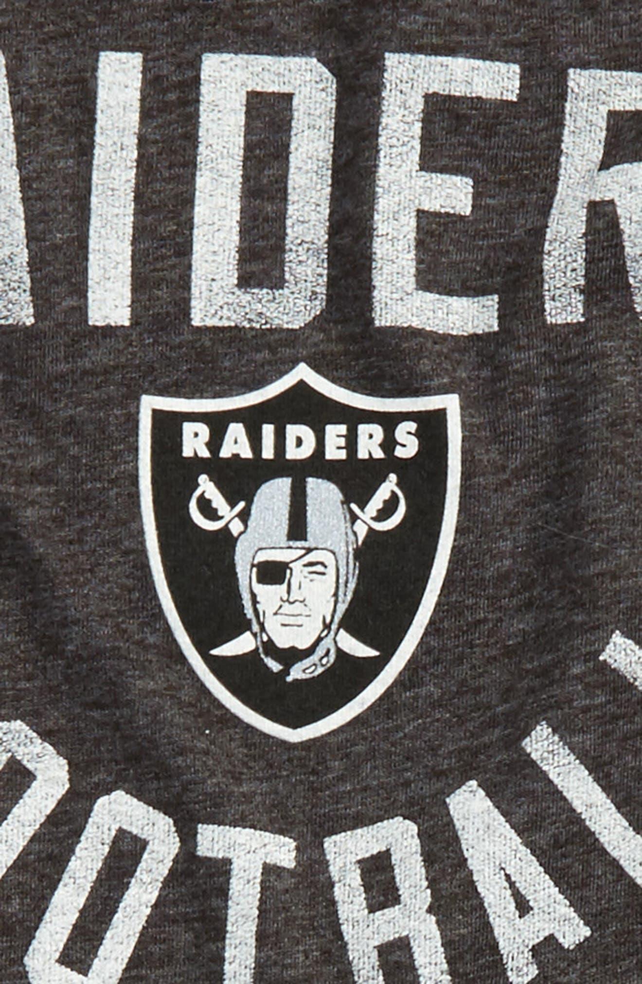 NFL Oakland Raiders Distressed Logo T-Shirt,                             Alternate thumbnail 2, color,                             Black