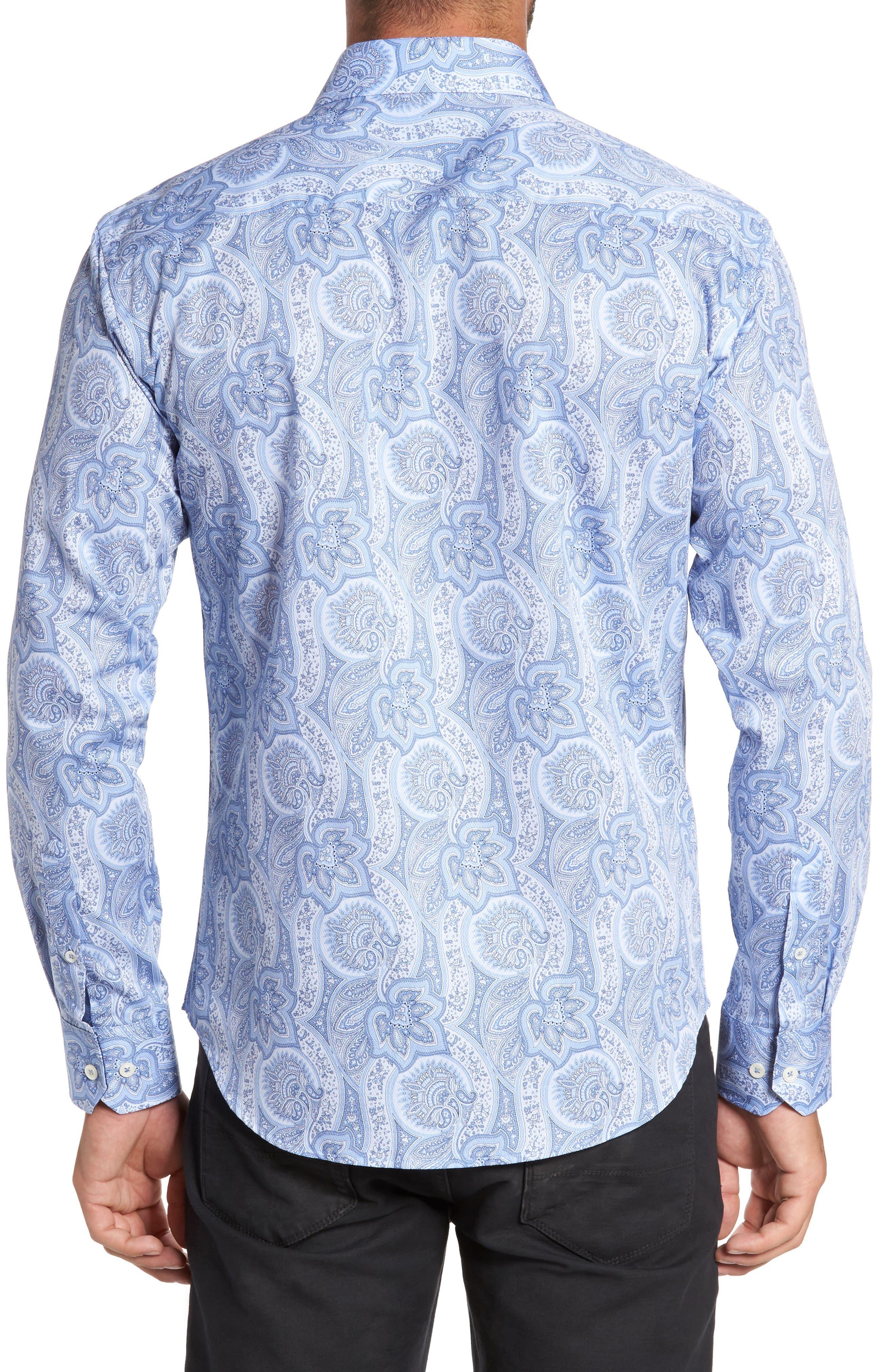 Alternate Image 2  - Bugtachi Shaped Fit Print Sport Shirt