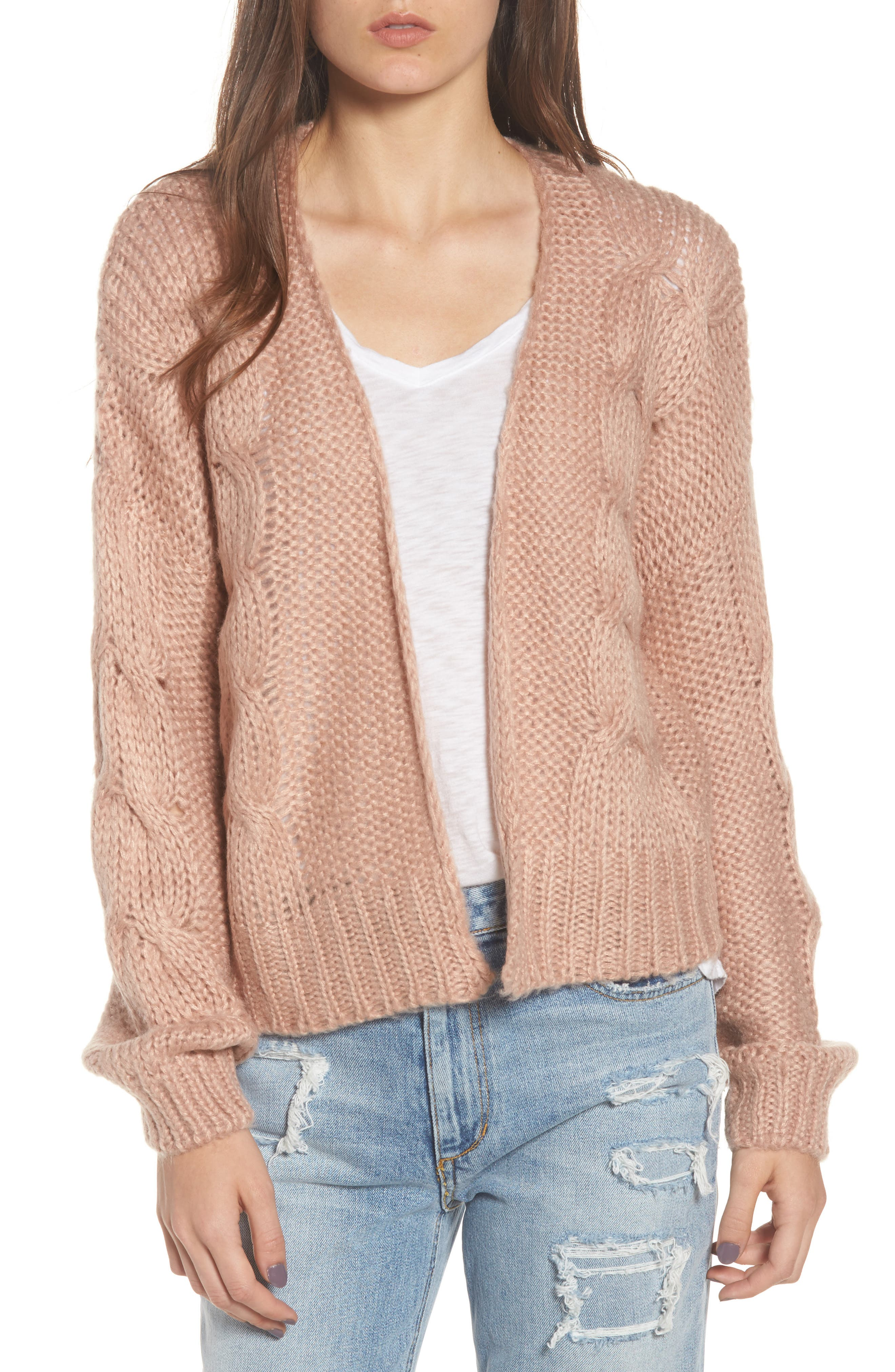 Boxy Cardigan,                         Main,                         color, Opal