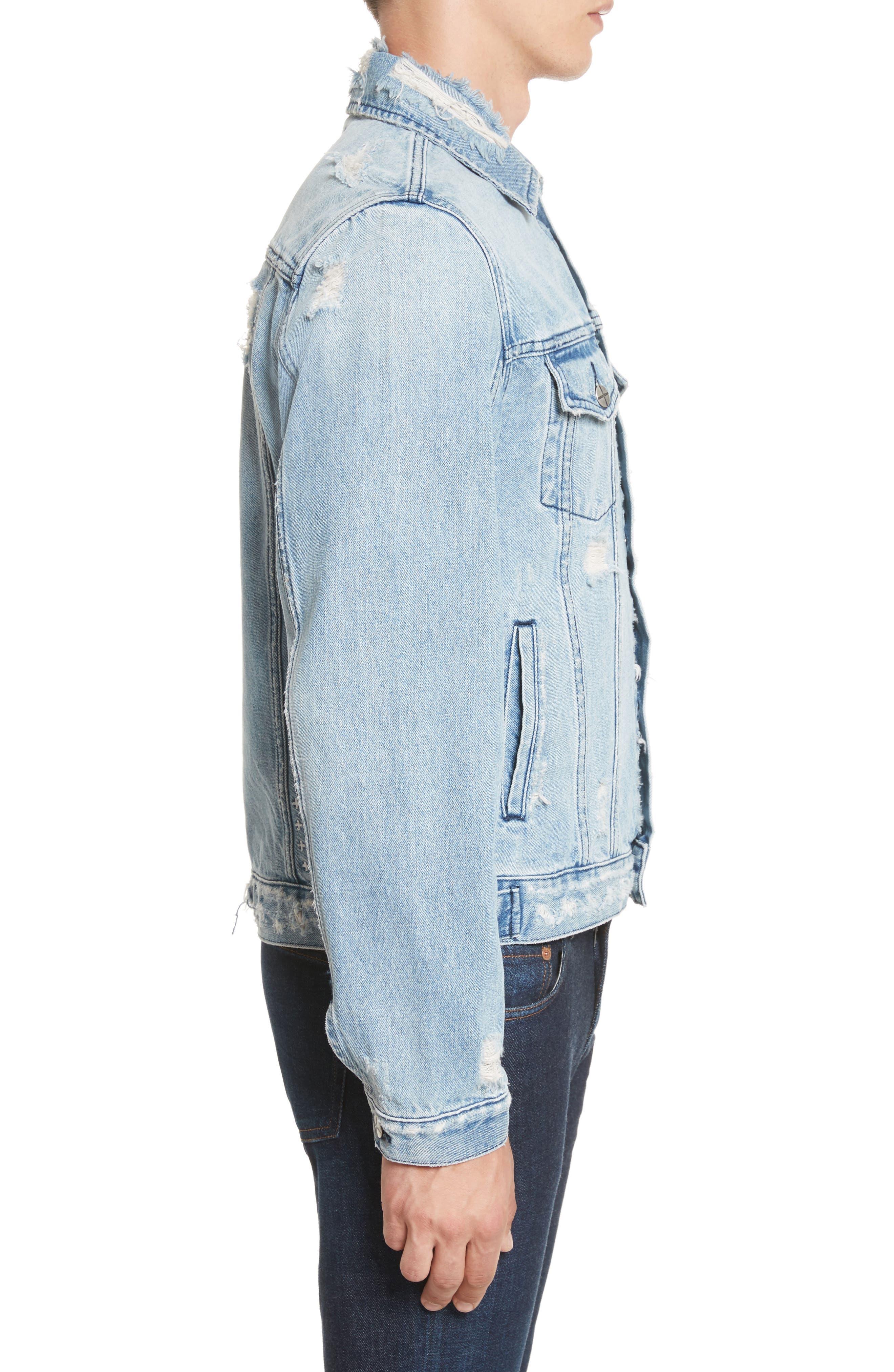 Hendrix Denim Jacket,                             Alternate thumbnail 3, color,                             Blue