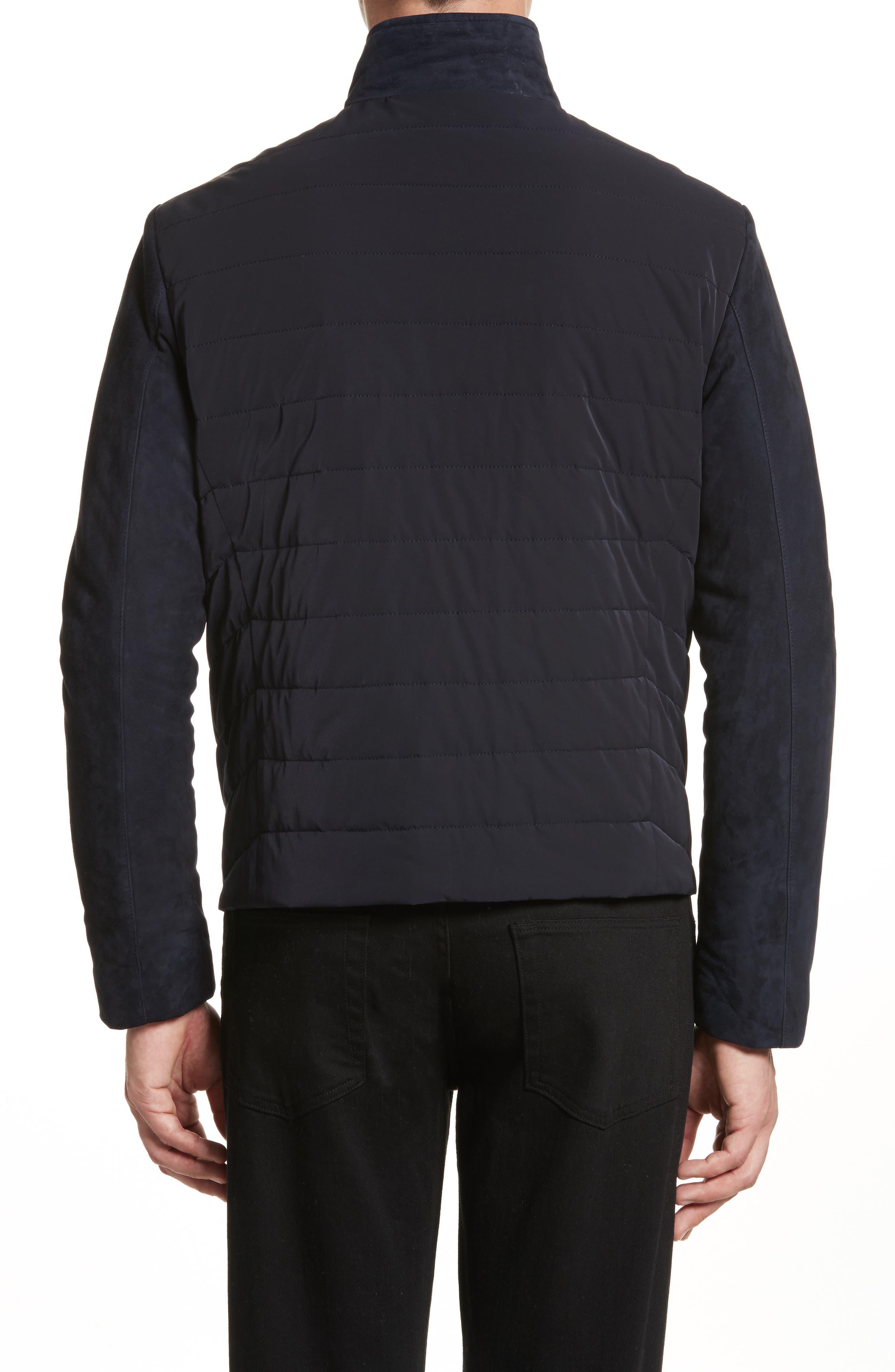 Alternate Image 2  - Armani Collezioni Regular Fit Mixed Media Jacket