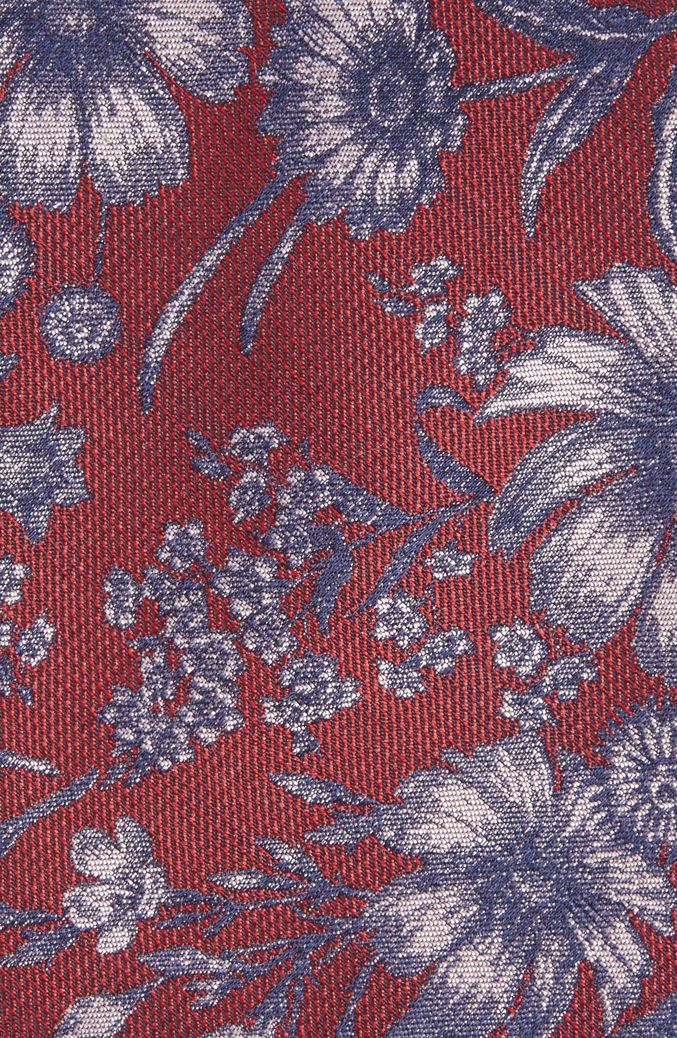 Alternate Image 2  - Calibrate Fletcher Floral Print Silk & Cotton Tie