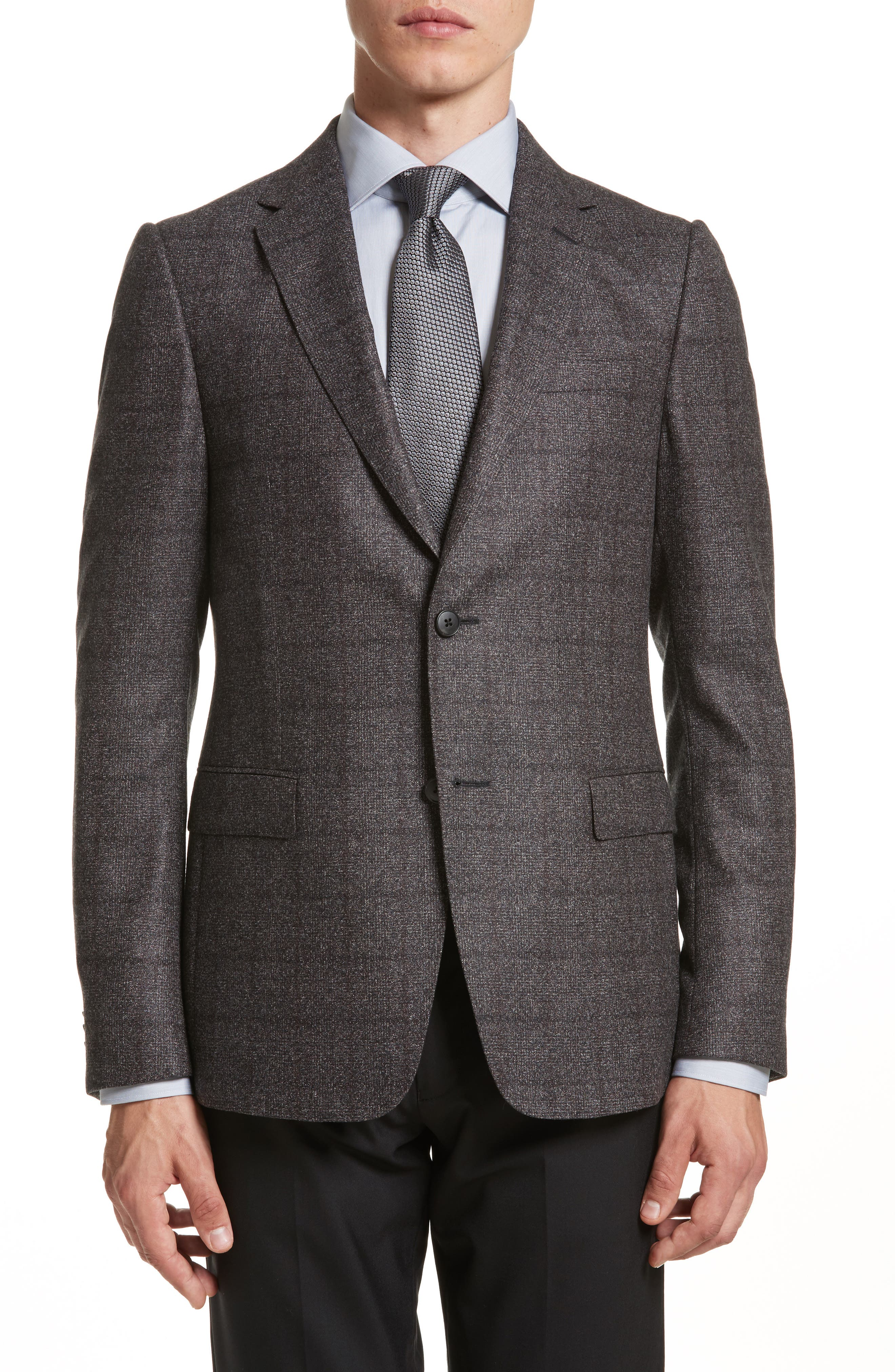 Z Zegna Classic Fit Plaid Wool Sport Coat