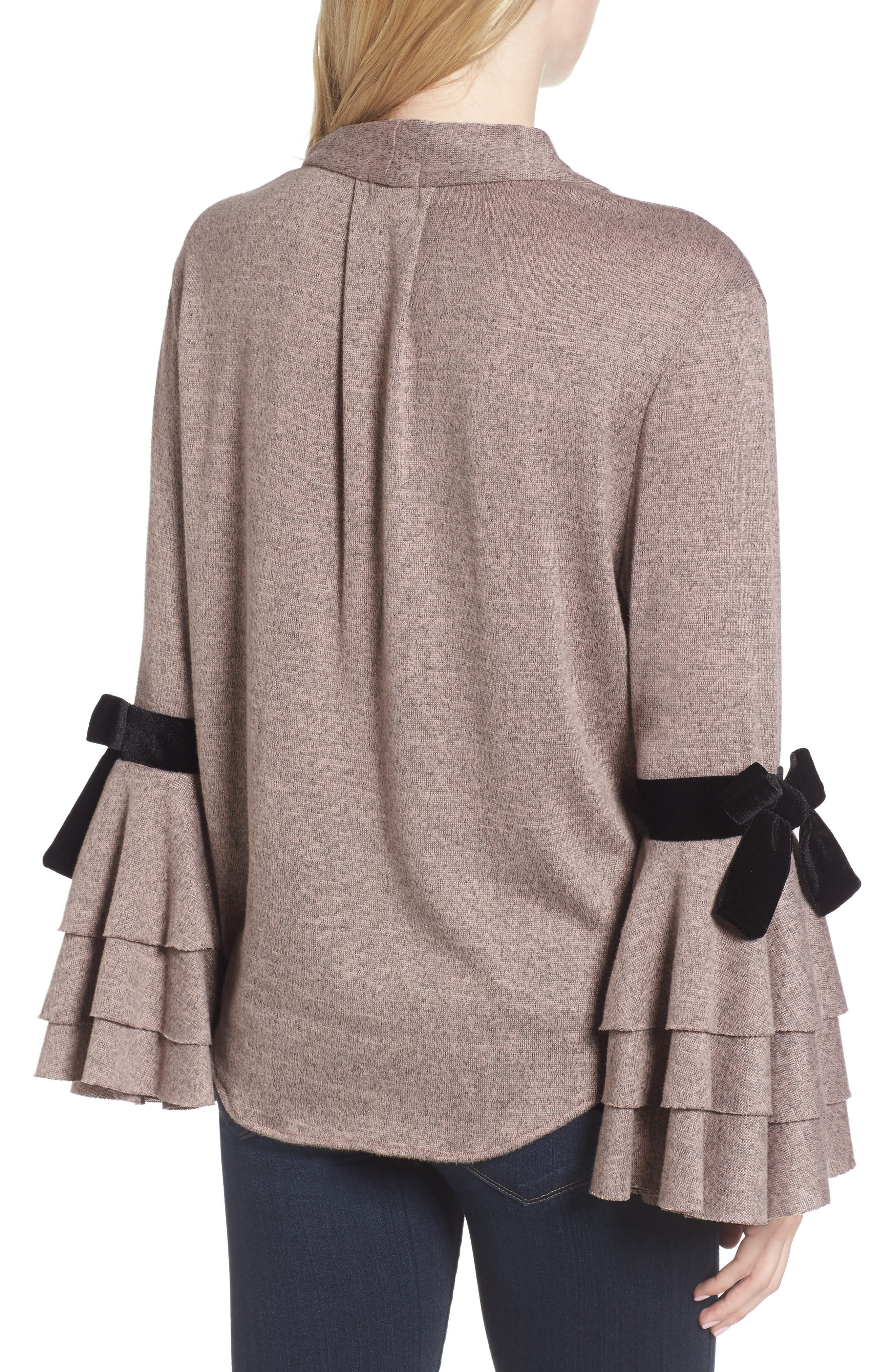 Milena Tie Bell Sleeve Sweater,                             Alternate thumbnail 2, color,                             Orchid
