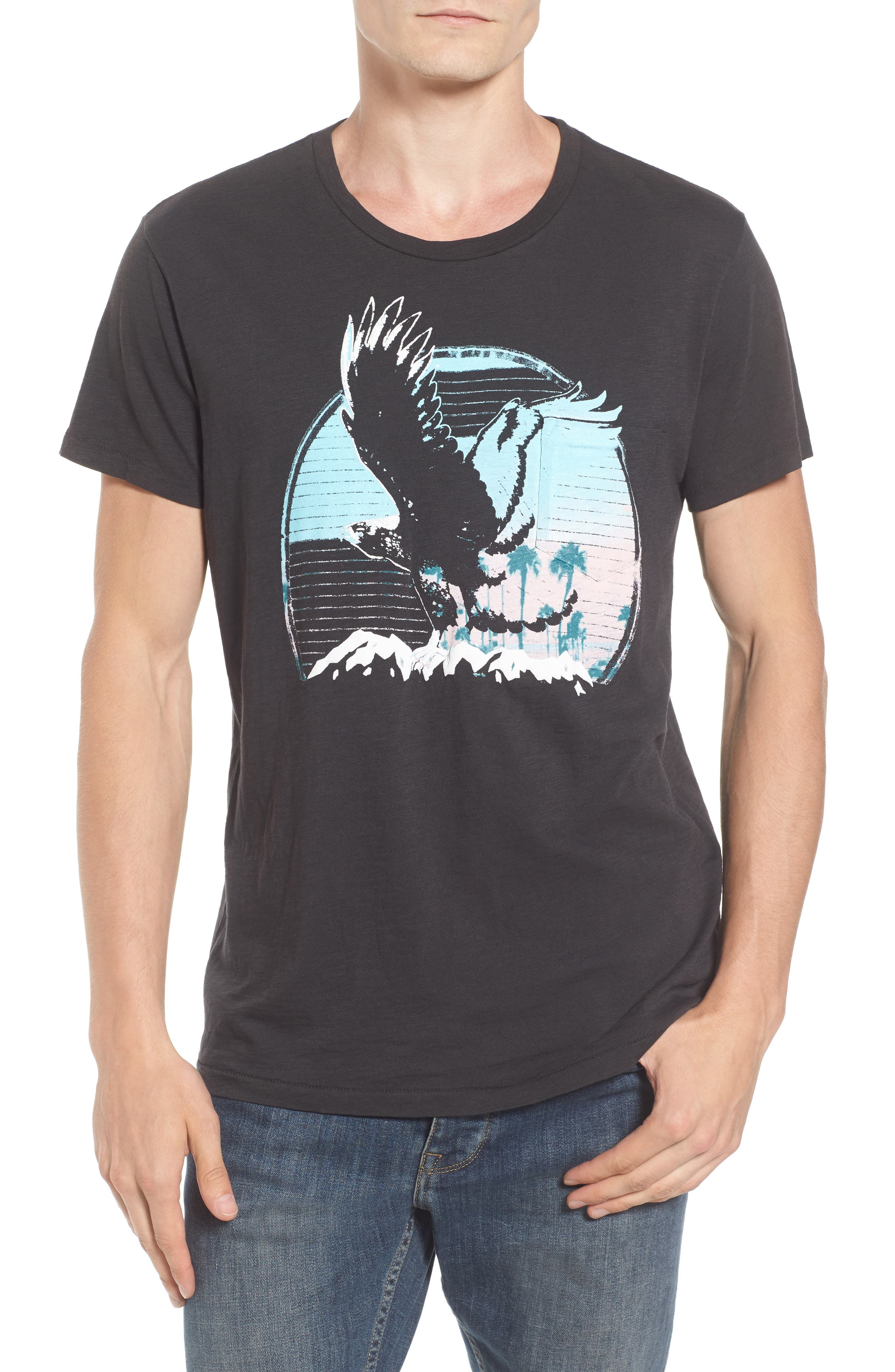 Alternate Image 1 Selected - Sol Angeles Sunset Eagle Pocket T-Shirt