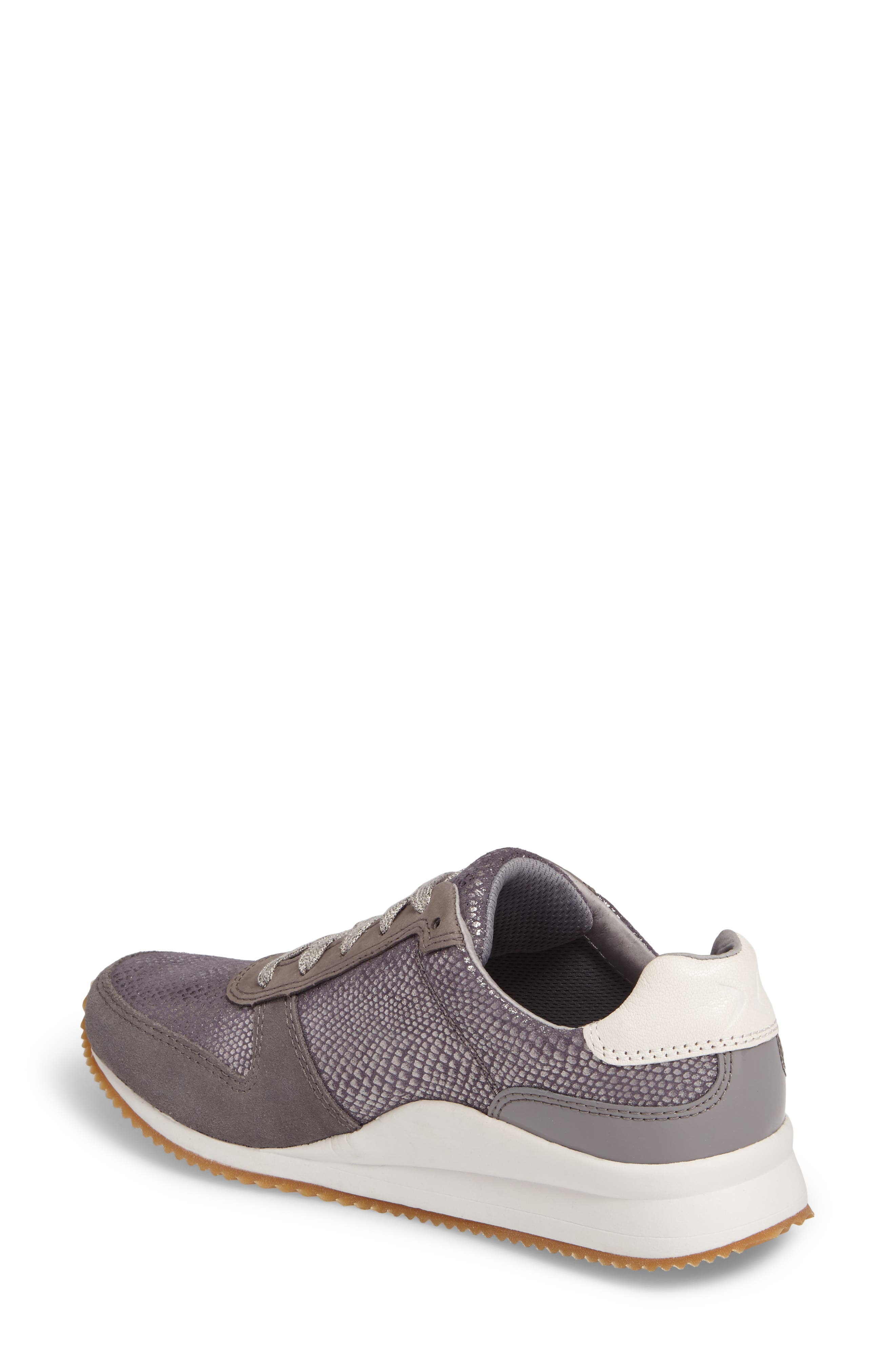 Daphne Sneaker,                             Alternate thumbnail 2, color,                             Grey Leather