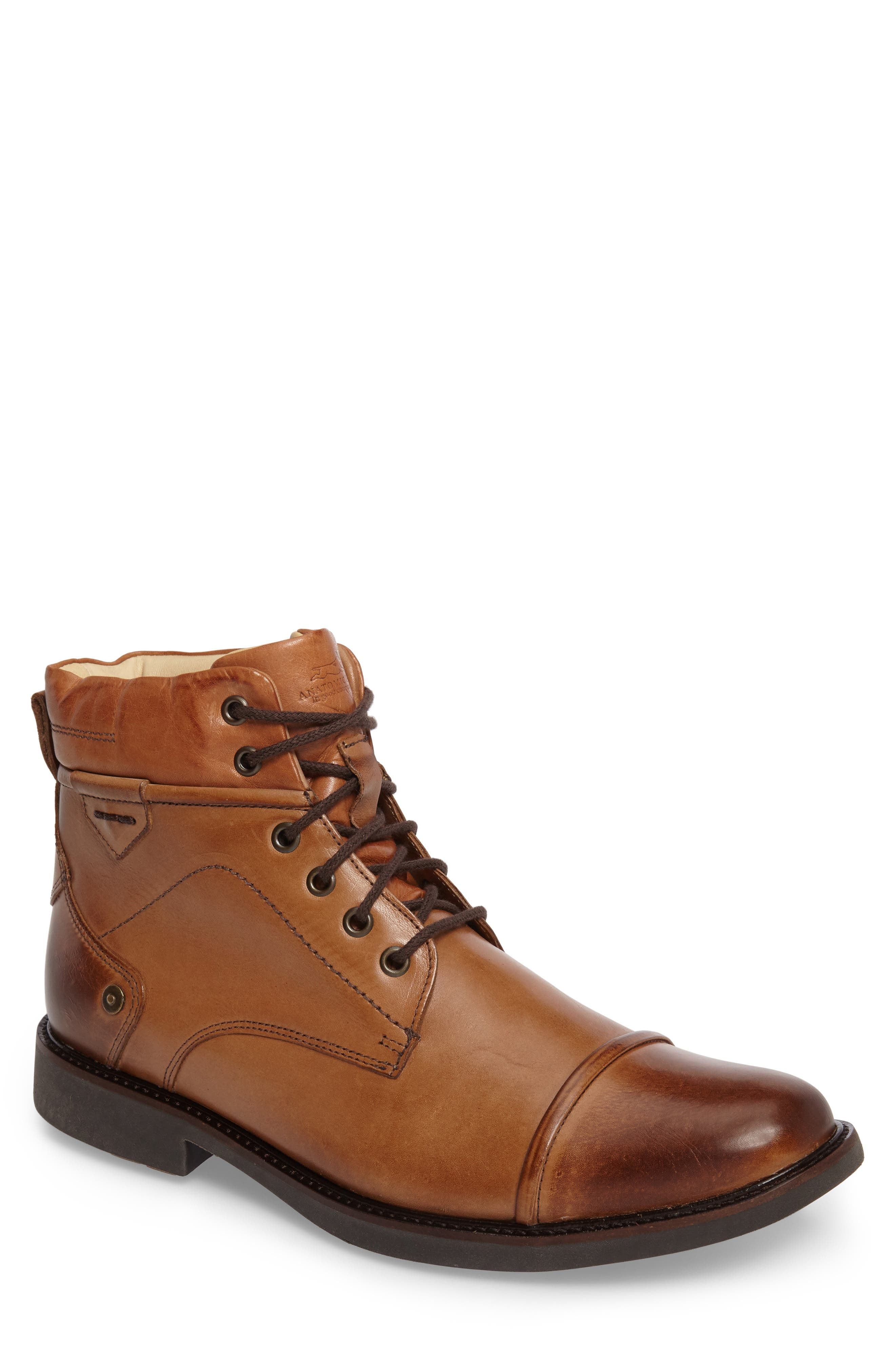 Samuel Cap Toe Boot,                         Main,                         color, Touch Bronze Foxy