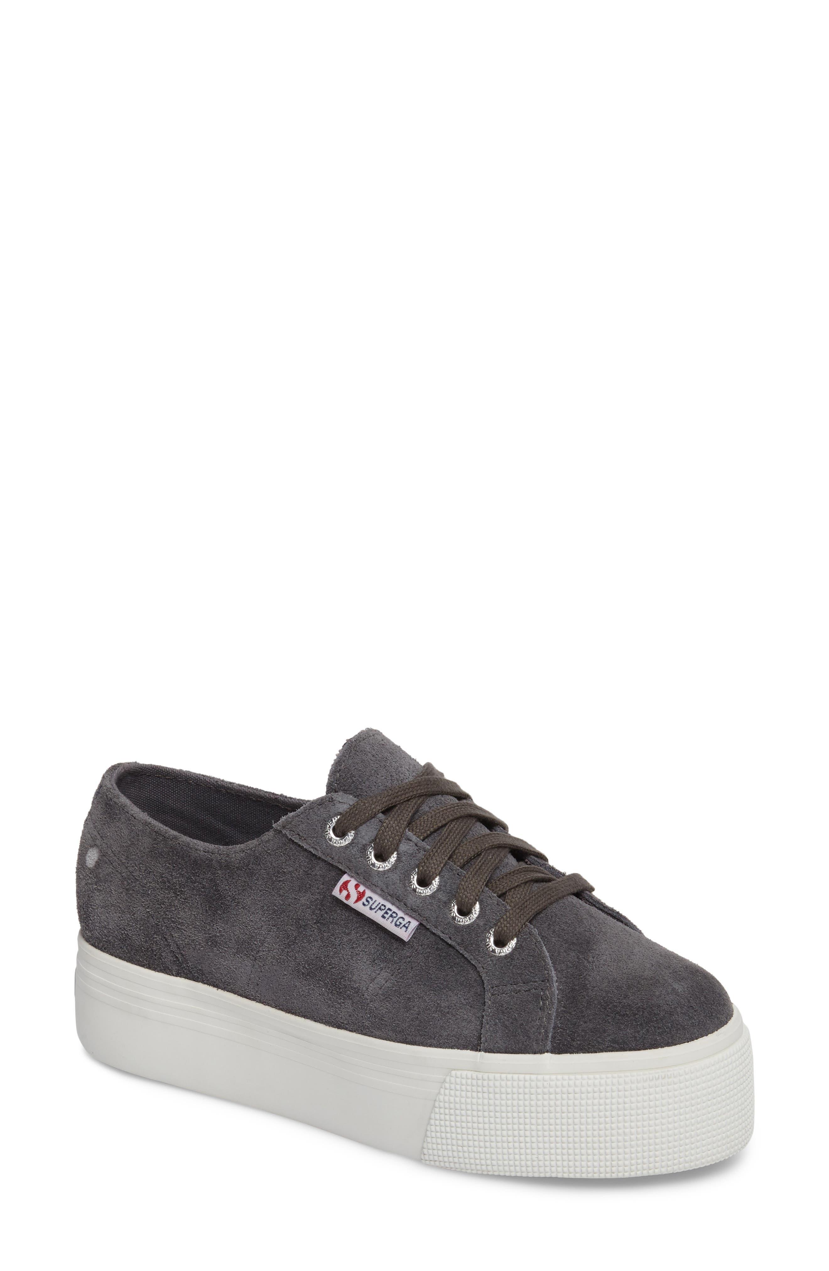 2790 Platform Sneaker,                         Main,                         color, Grey Suede