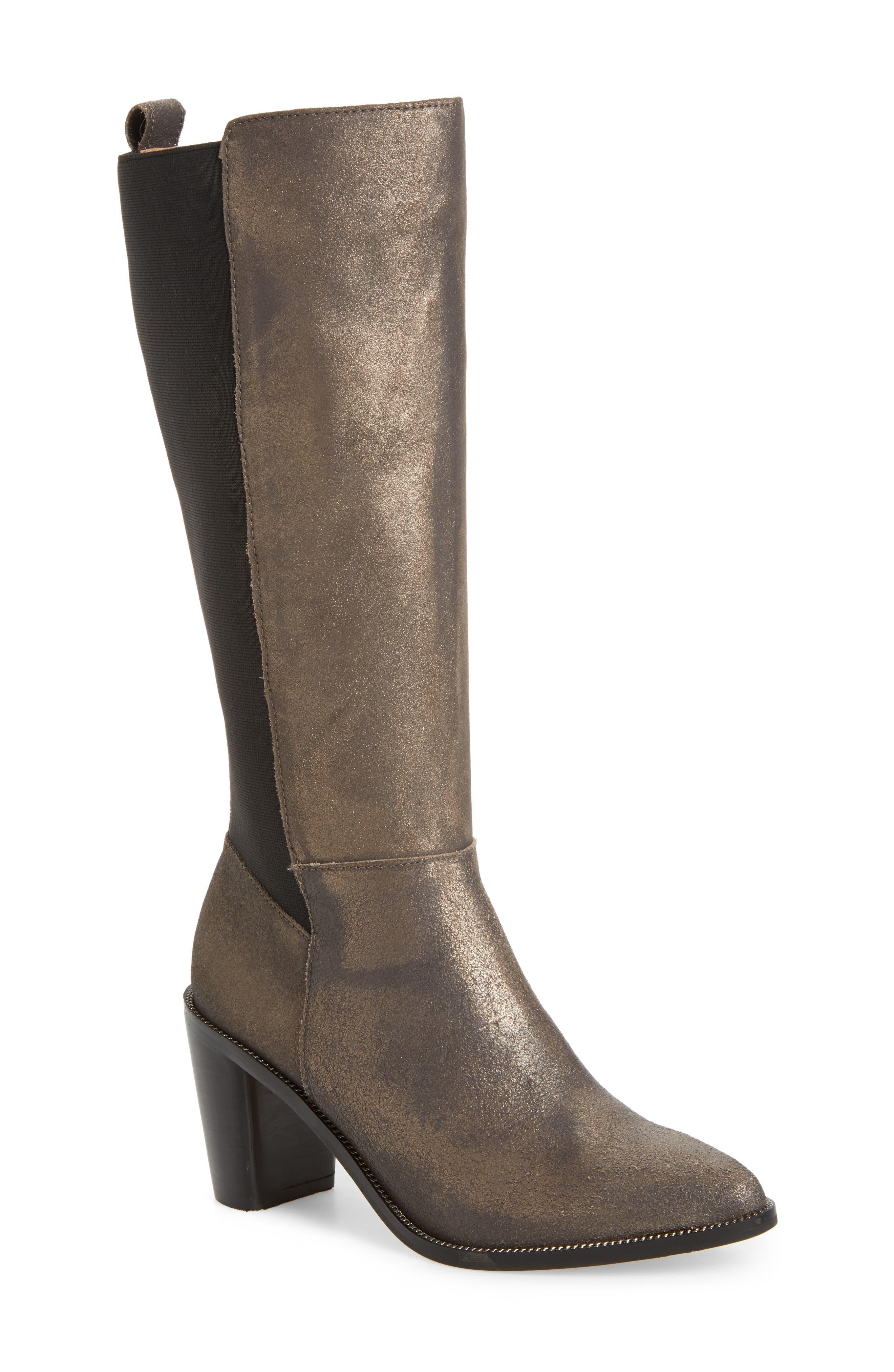Huey Boot,                         Main,                         color, Gunmetal Leather