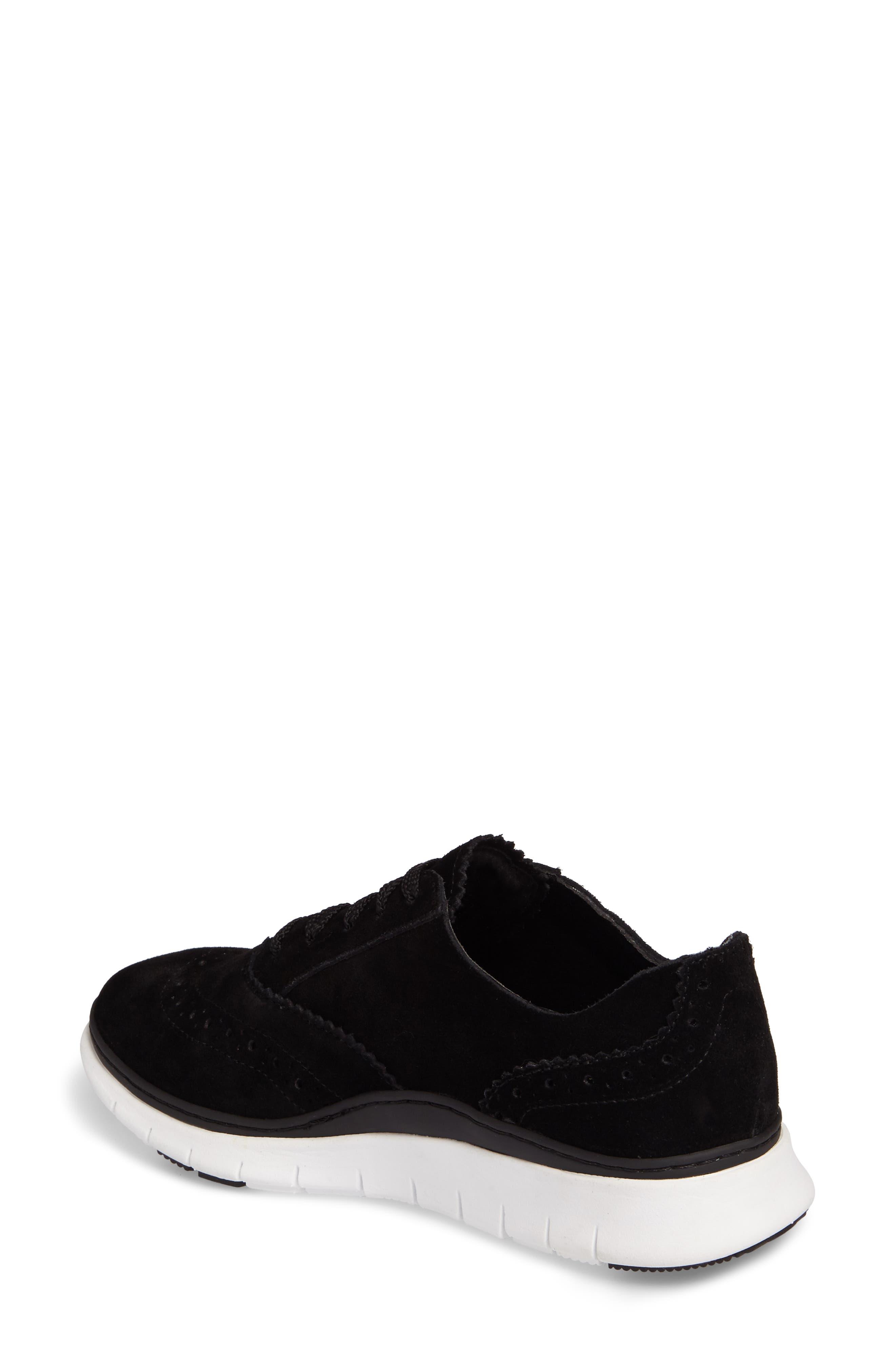 Kenley Sneaker,                             Alternate thumbnail 2, color,                             Black Suede