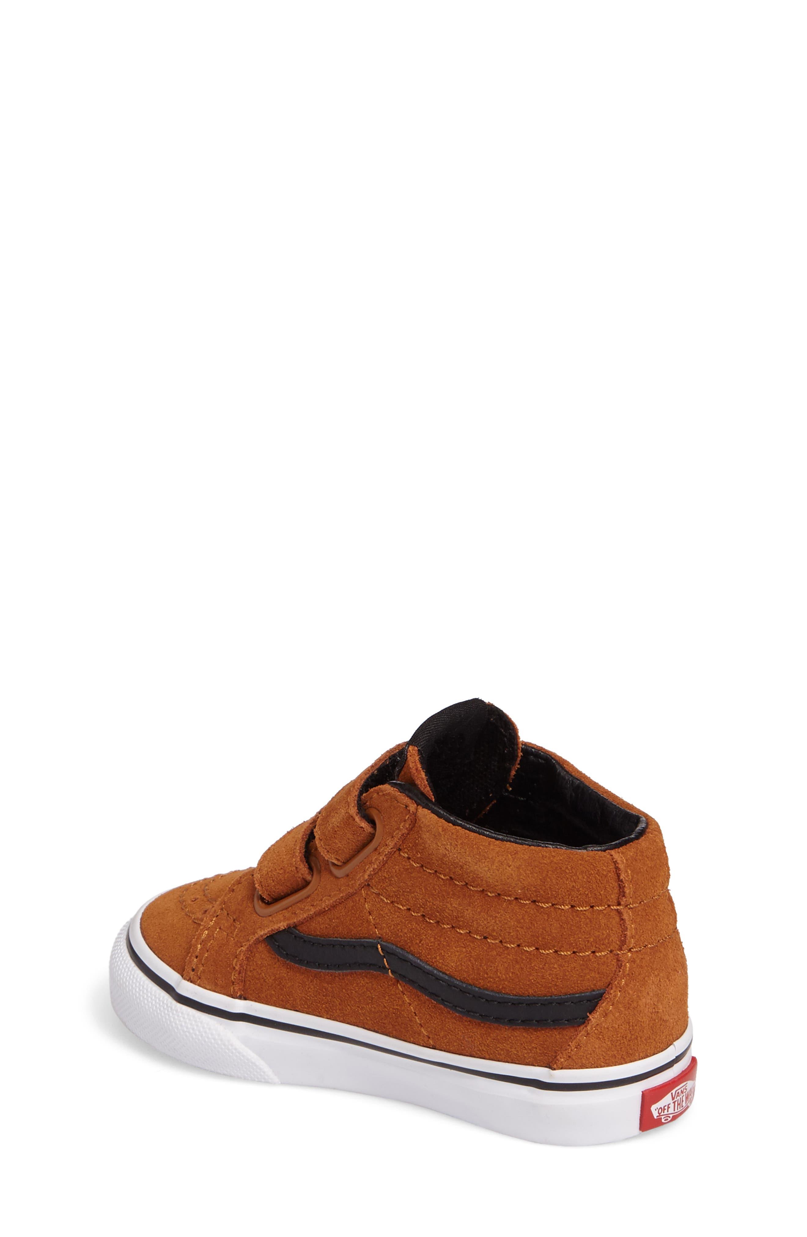 SK8-Mid Reissue Sneaker,                             Alternate thumbnail 2, color,                             Glazed Ginger/ Black