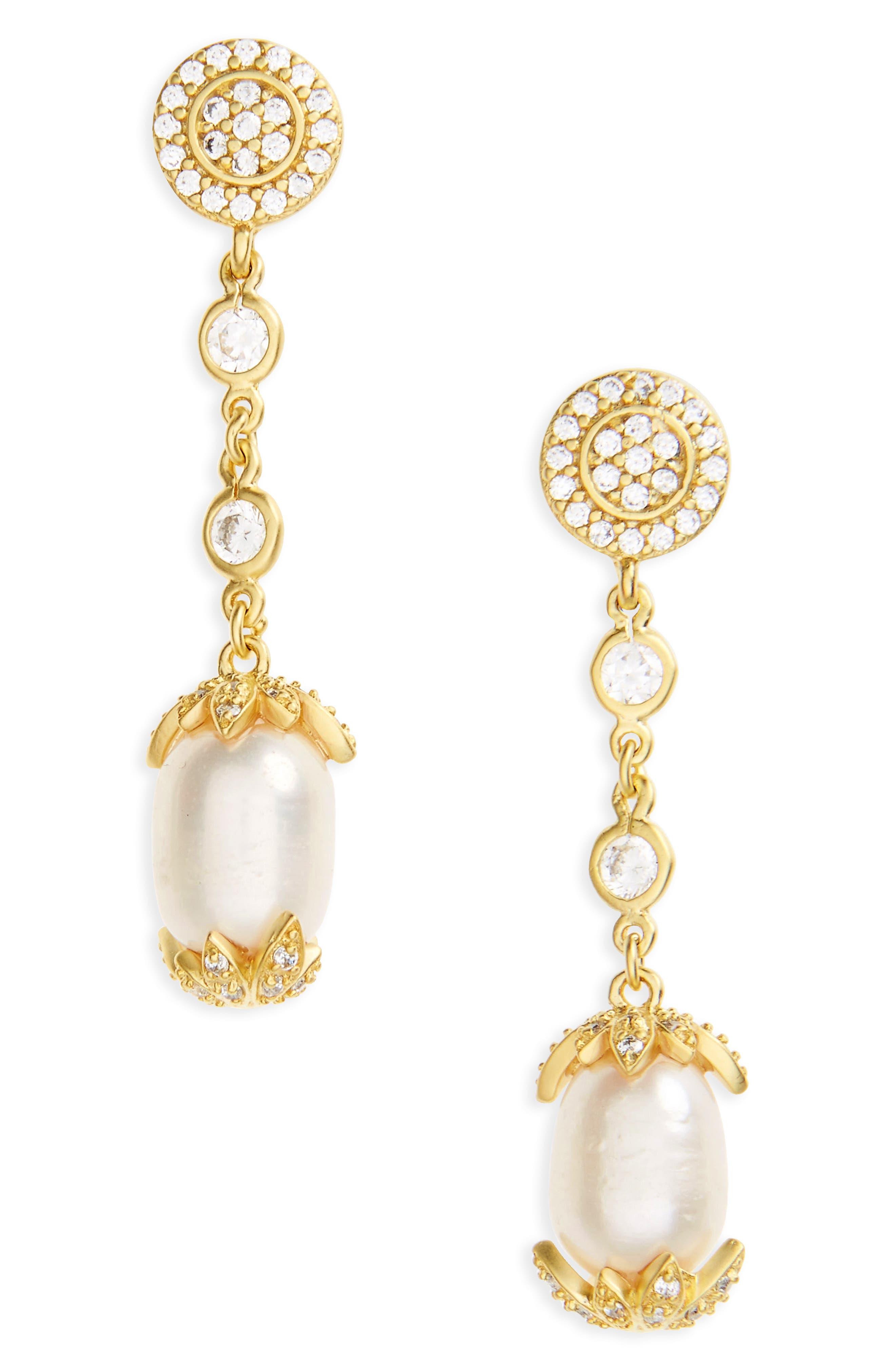 FREIDA ROTHMAN Audrey Linear Drop Earrings