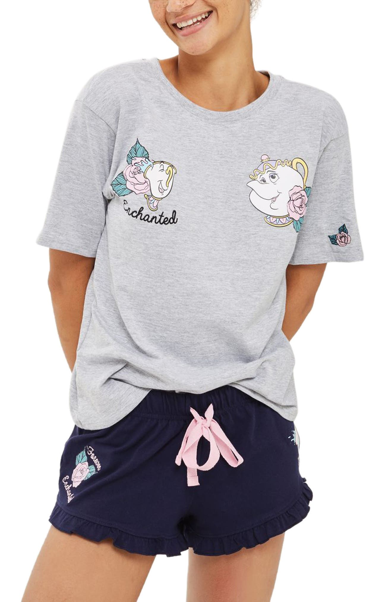 Topshop Beauty & the Beast Short Pajamas