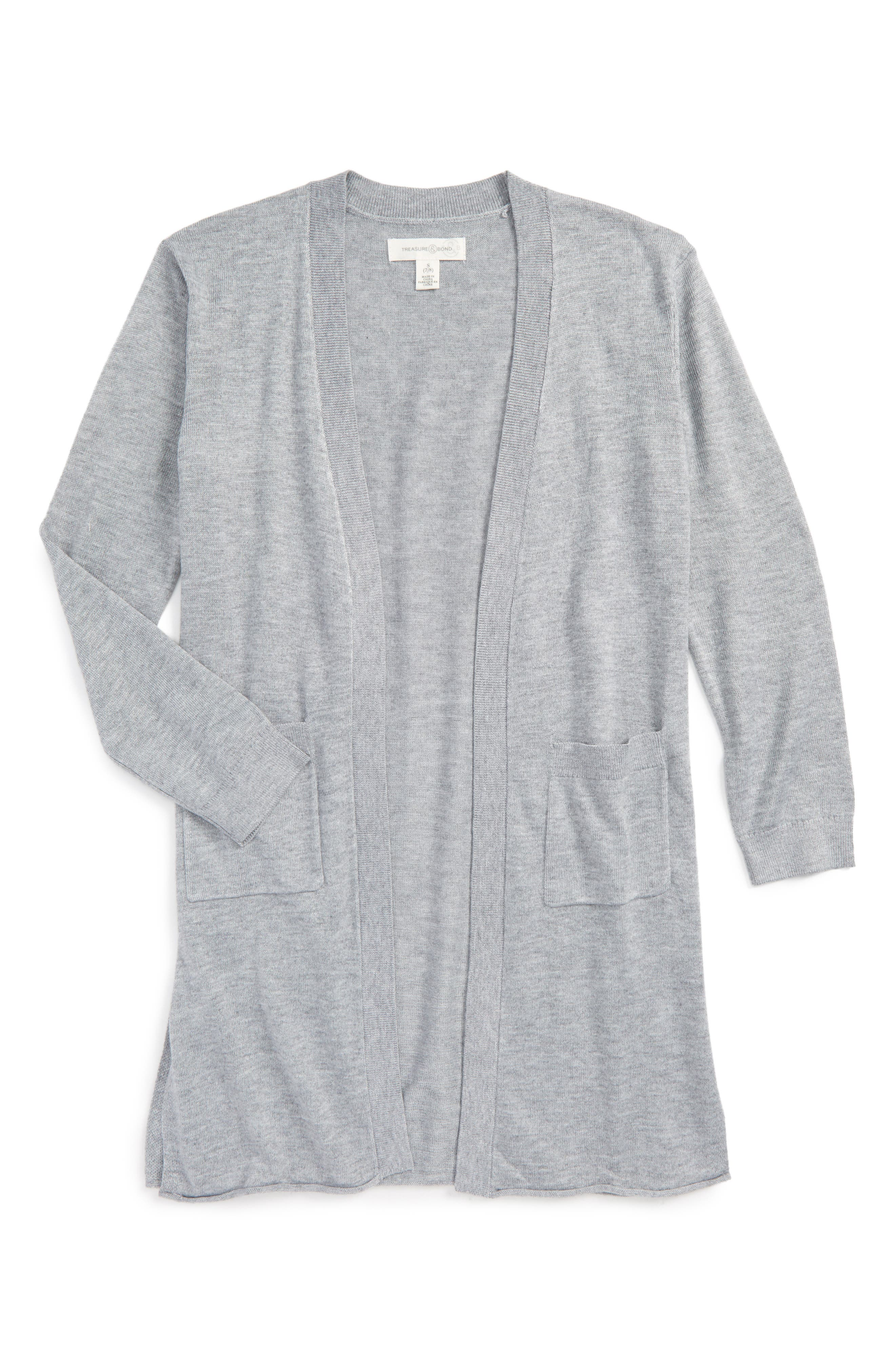 Girls' Grey Sweaters: Cardigan, Knit & Crewneck | Nordstrom ...